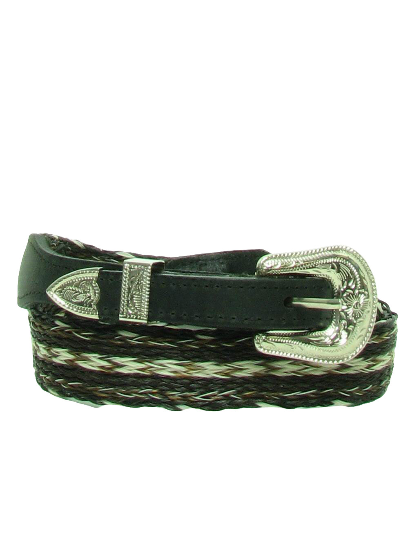 1980s Vintage Belt  80s -Crushy Creek- Mens black leather tipped ... 524631045669