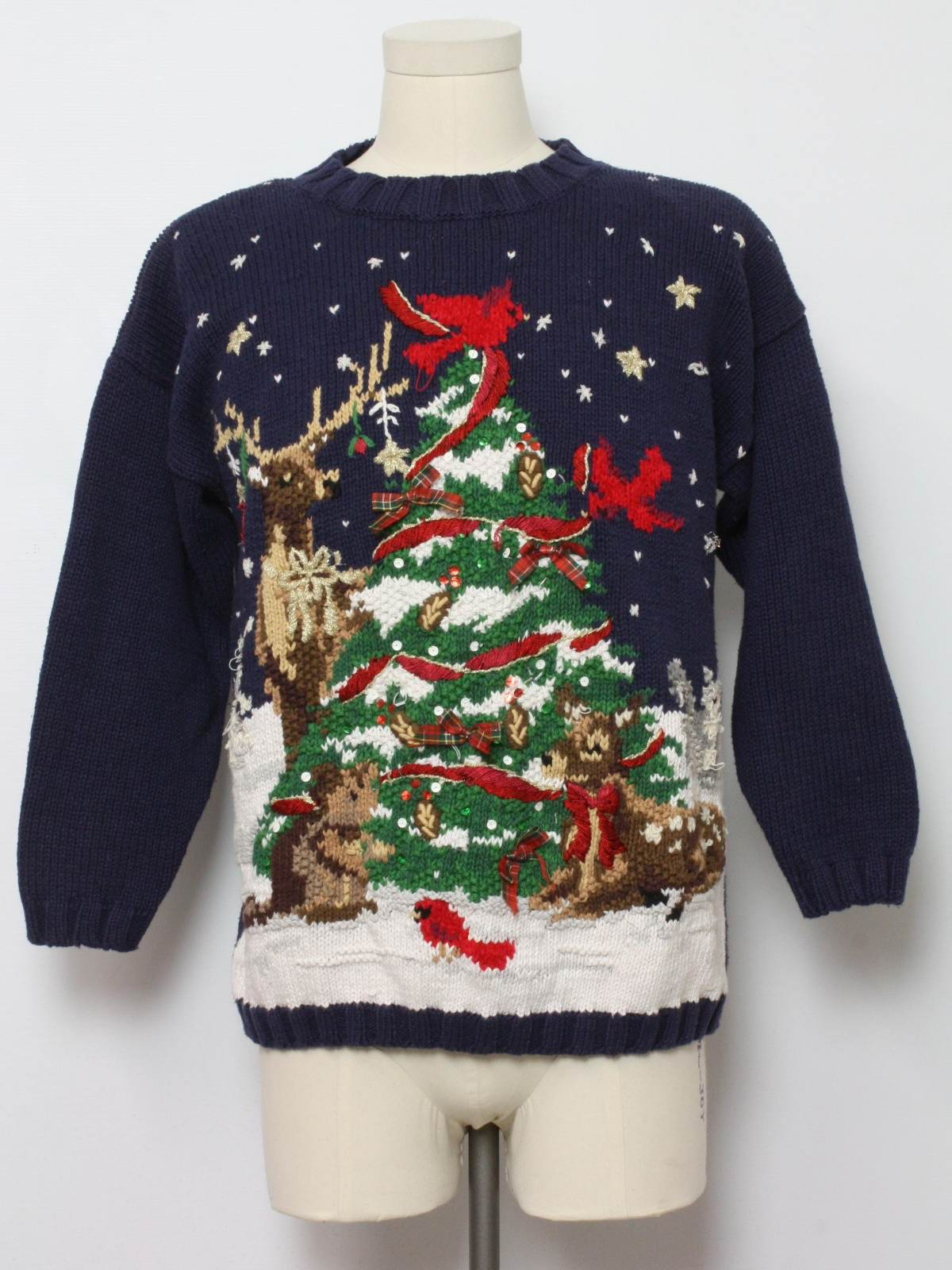 Ugly Christmas Sweater: -Tiara International- Unisex blue ...