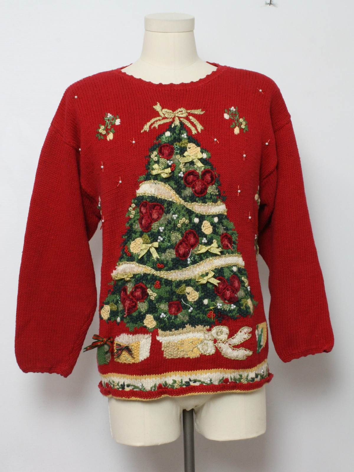 Ugly Christmas Sweater: -Heirloom Collectibles- Unisex red ...