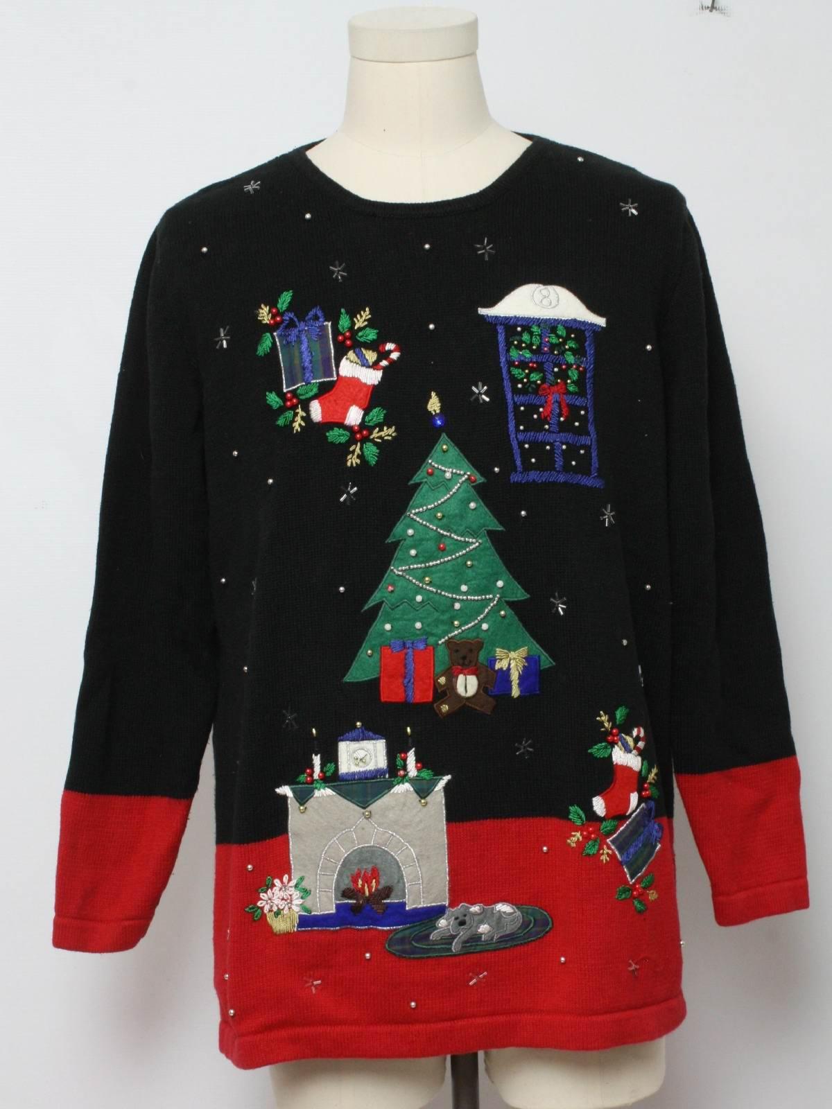 Vintage Nut Cracker Eighties Ugly Christmas Sweater 80s Authentic Vintage Nut Cracker Unisex