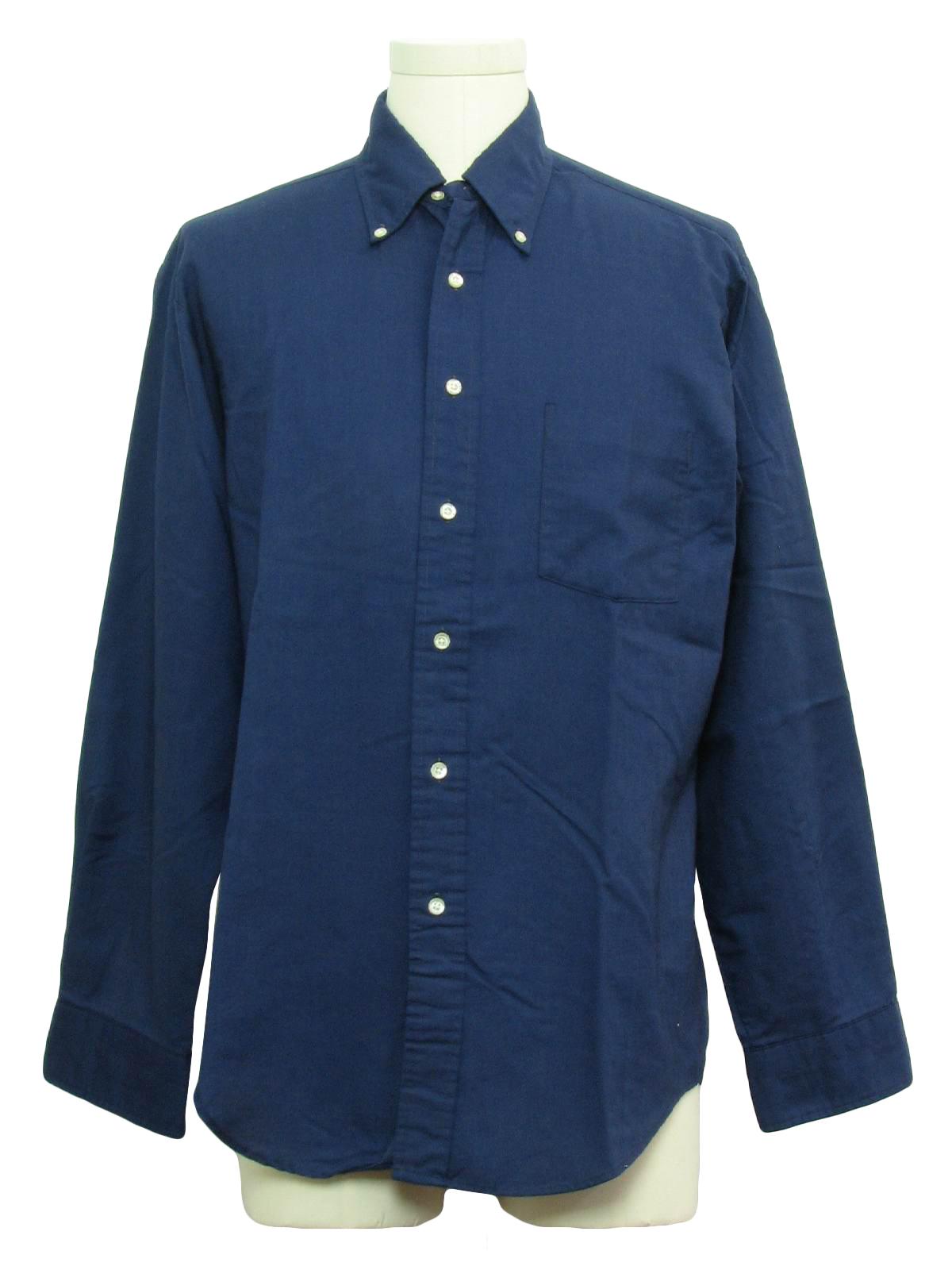 Seventies Towncraft Shirt 70s Towncraft Mens Midnight Blue