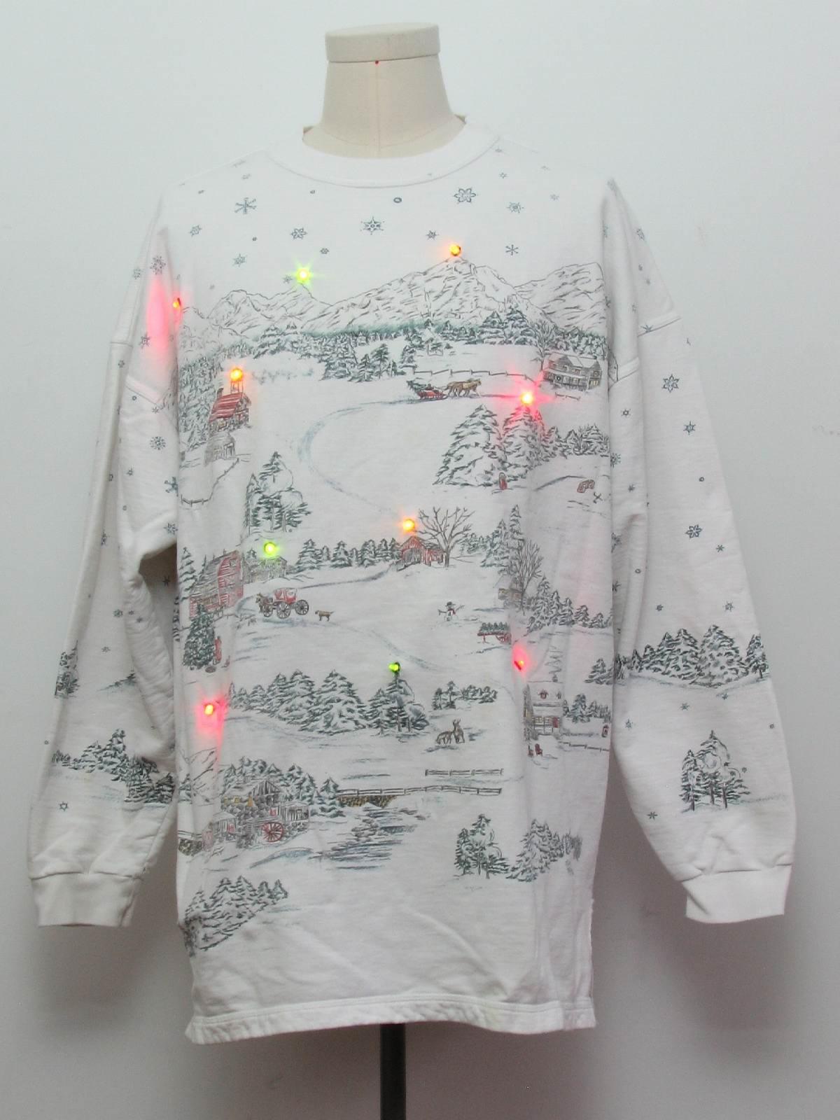 Multicolor Lightup Ugly Christmas Sweatshirt Northern
