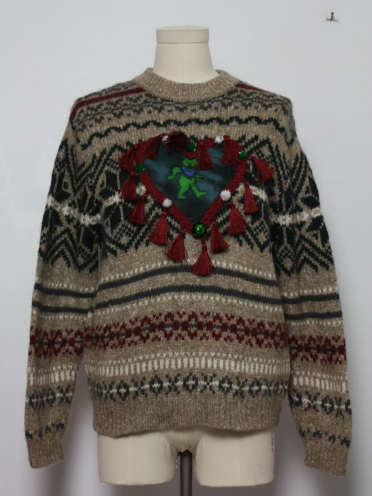 Grateful Dead Ugly Christmas Sweater: -Eddie Bauer- Unisex brown ...