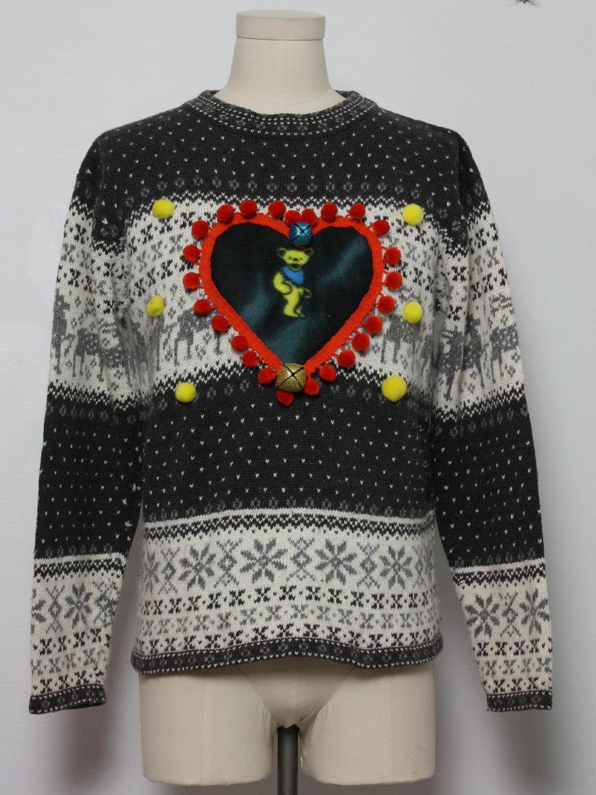 Grateful Dead Ugly Christmas Sweater: -Erika- Unisex brownish grey ...