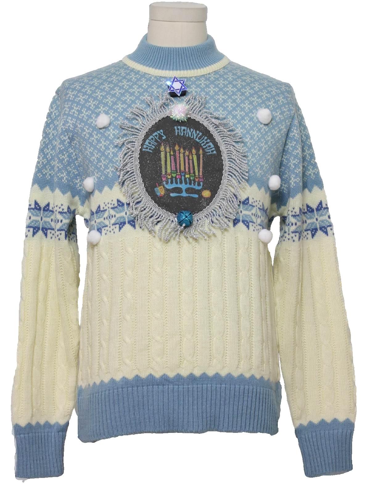 Dillards Unisex Hanukkah Ugly Christmas Sweater