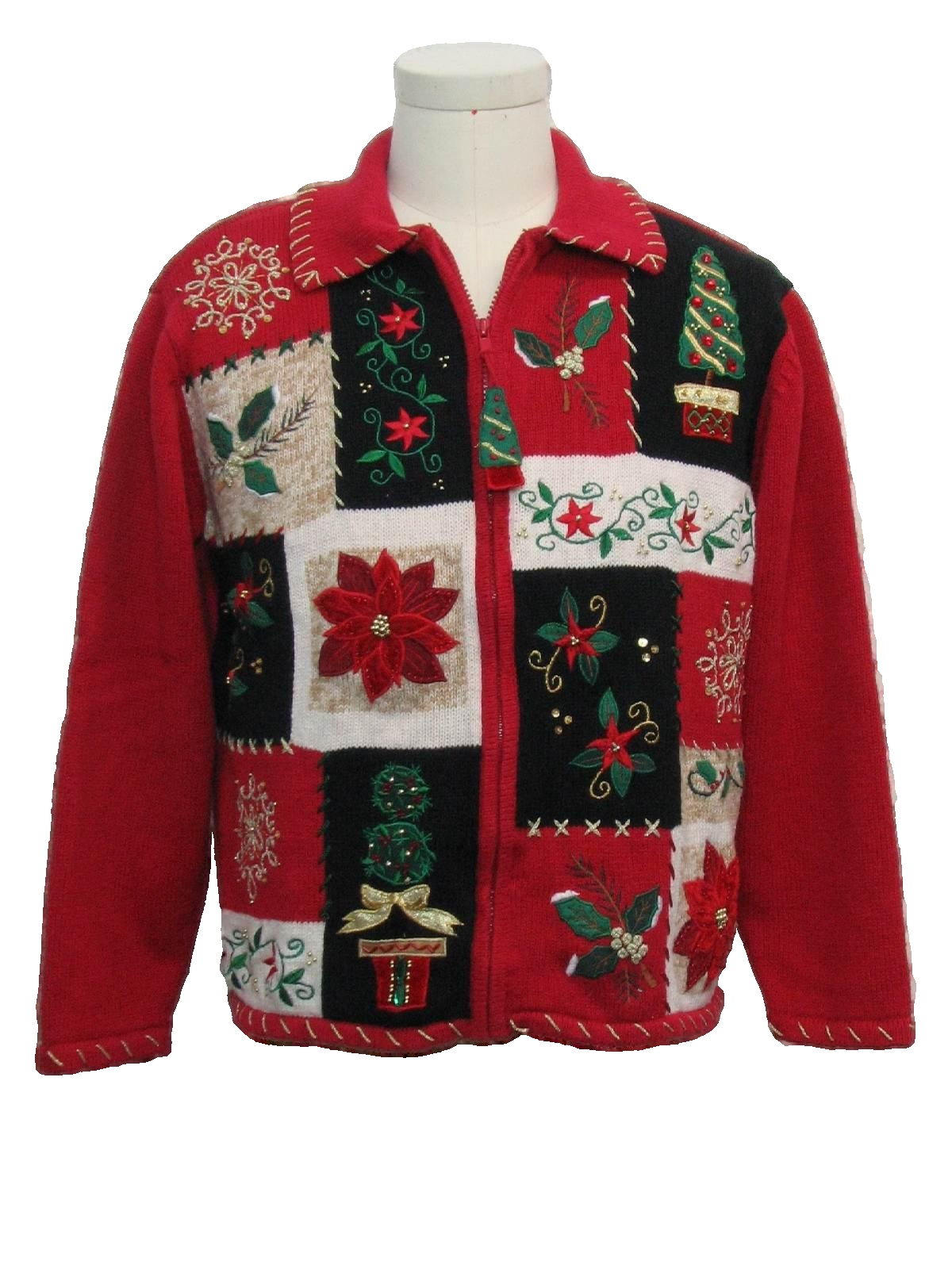 Womens ugly christmas sweater austin clothing company womens red