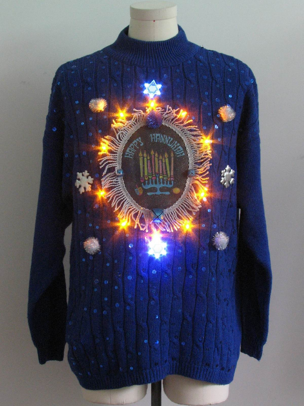 Amber Lightup Hanukkah Ugly Christmas Sweater