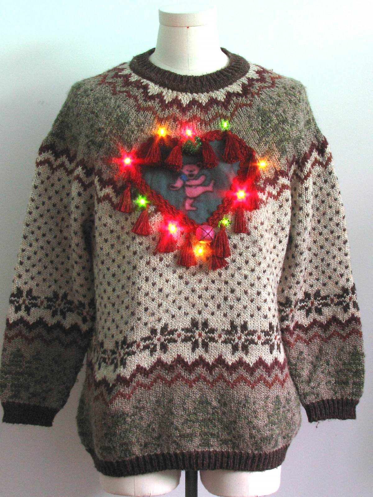 Multicolor Lightup Grateful Dead Ugly Christmas Sweater: -St Johns ...