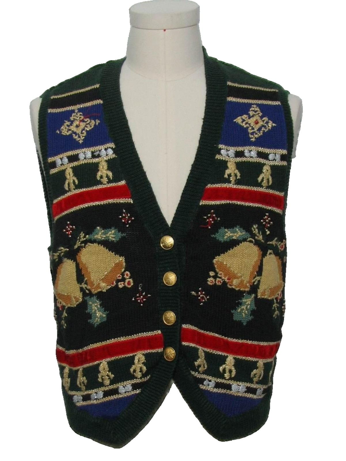 Womens or Girls Ugly Christmas Sweater Vest: retro look -Norton ...