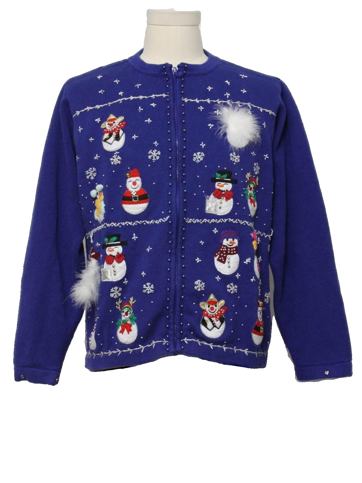 Womens Ugly Christmas Sweater: -BP Design- Womens blue ...