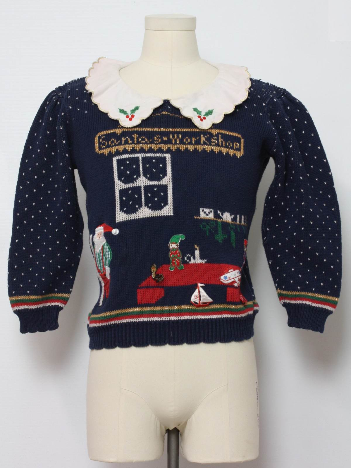 80s Womens Ugly Christmas Sweater Sweater Loft