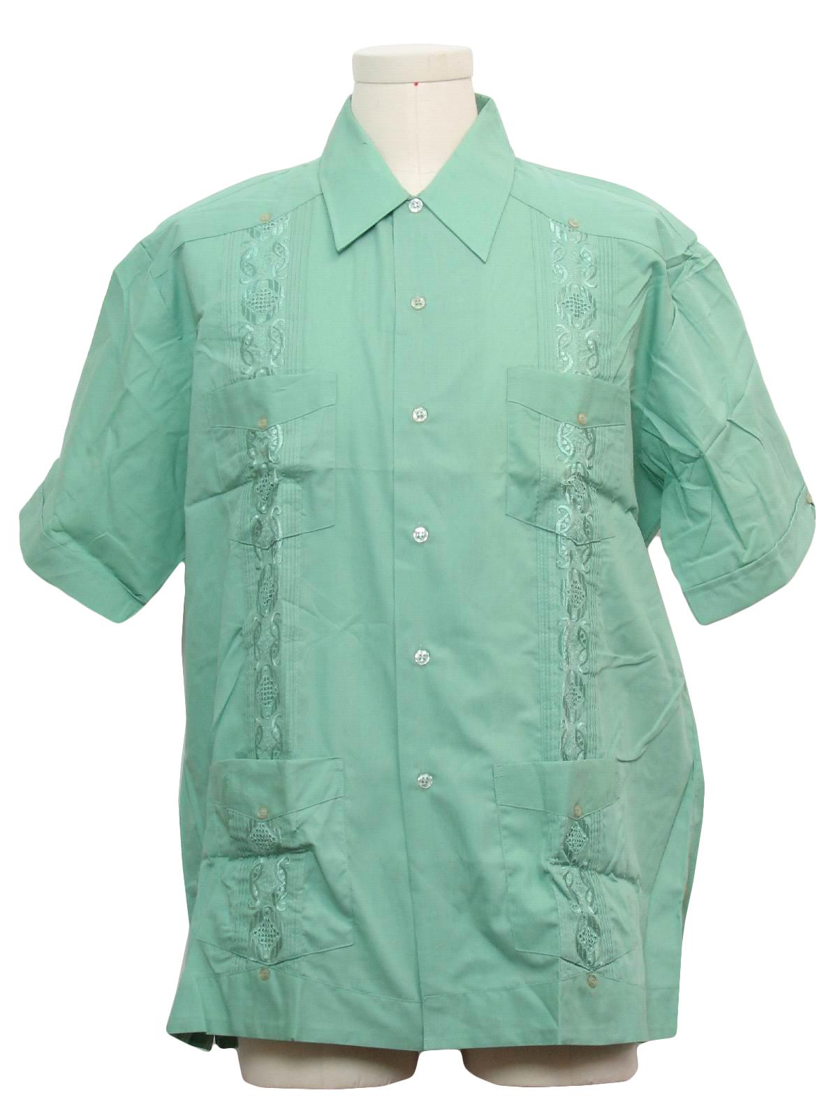 Retro 1980's Guayabera Shirt (Haband) : 80s -Haband- Mens ...