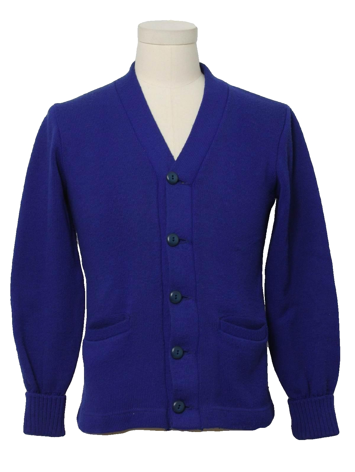 mens royal blue cardigan sweater baggage clothing