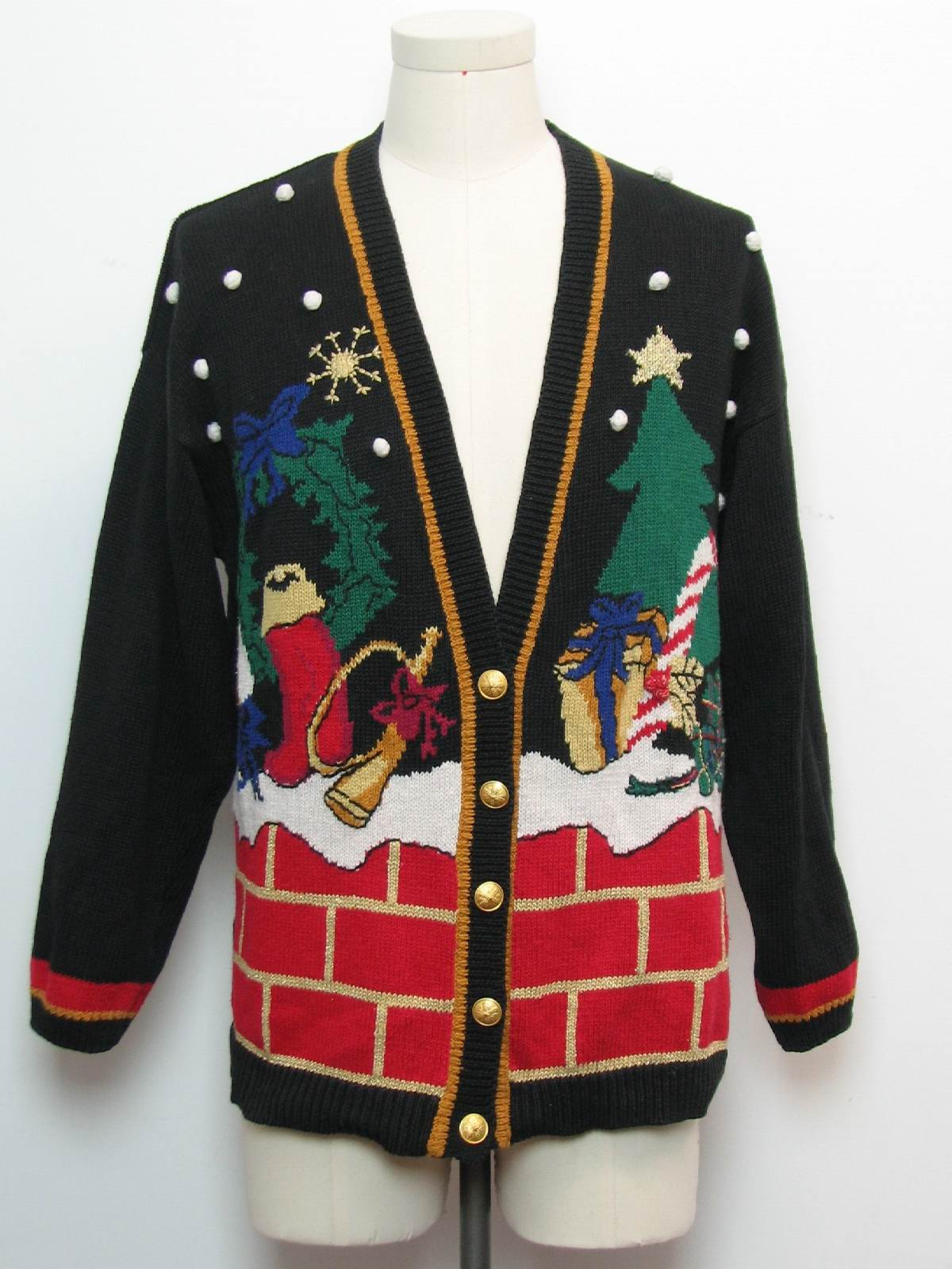 Ugly Christmas Cardigan Sweater: -Norton McNaughton- Unisex black
