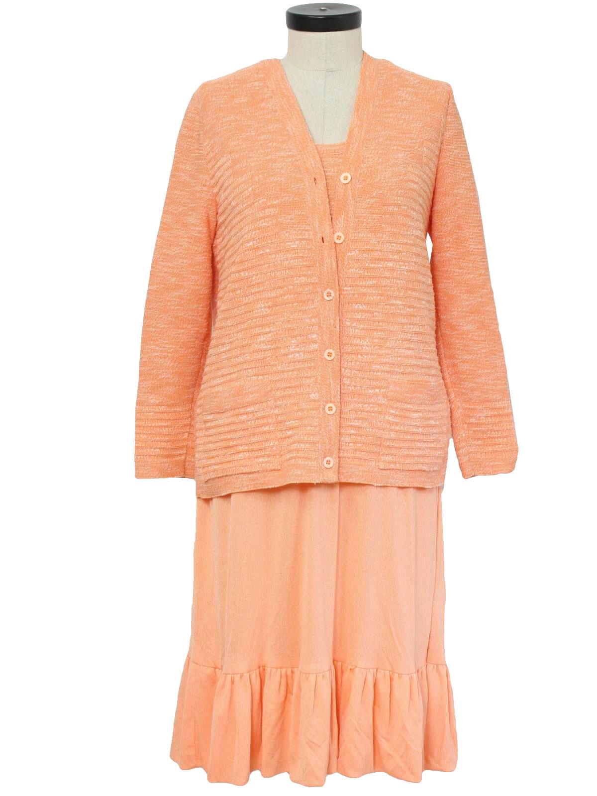 1970 S Retro Suit 70s Jameskenrob Womens Sherbet Orange