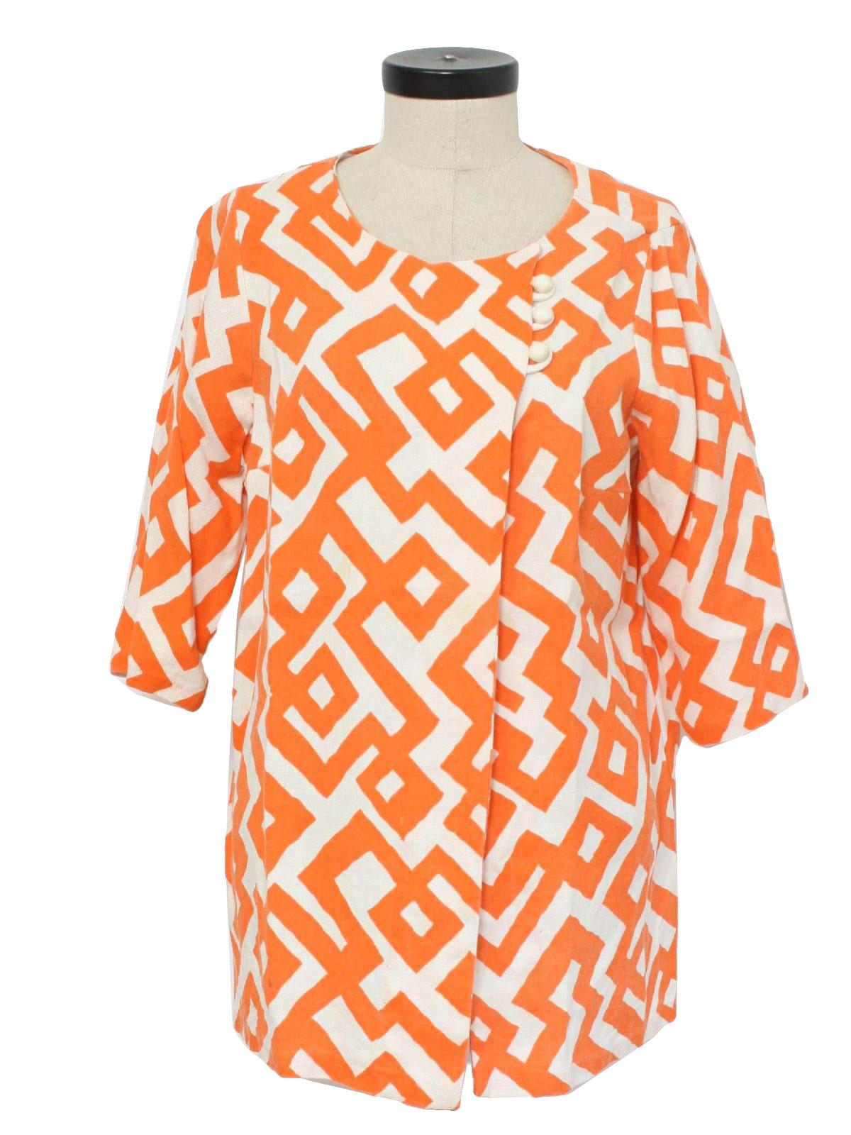 c0b0ef66606 1960's Womens Tunic Shirt