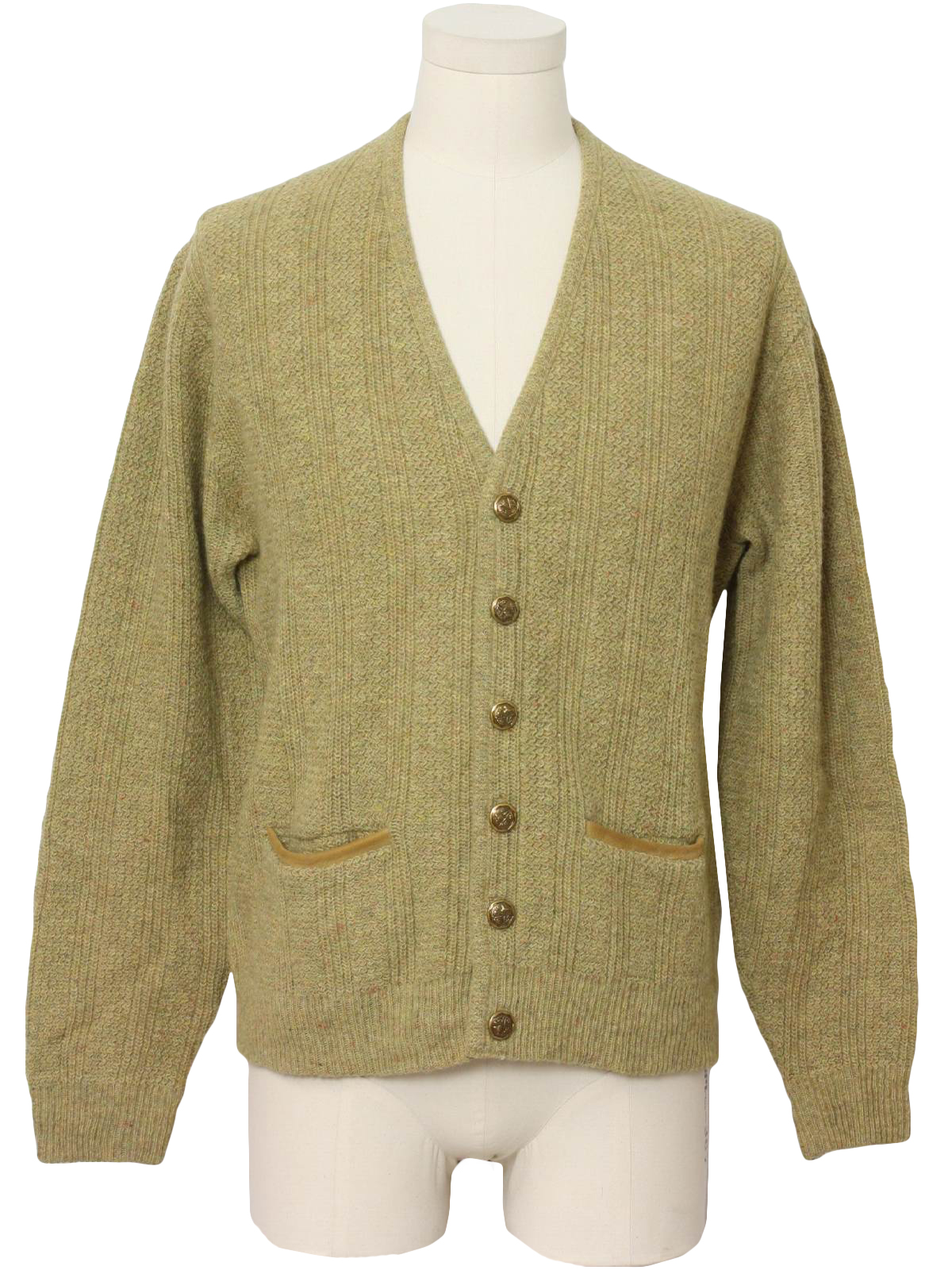 70s Caridgan Sweater (Puritan): 70s -Puritan- Mens shaded tan and ...