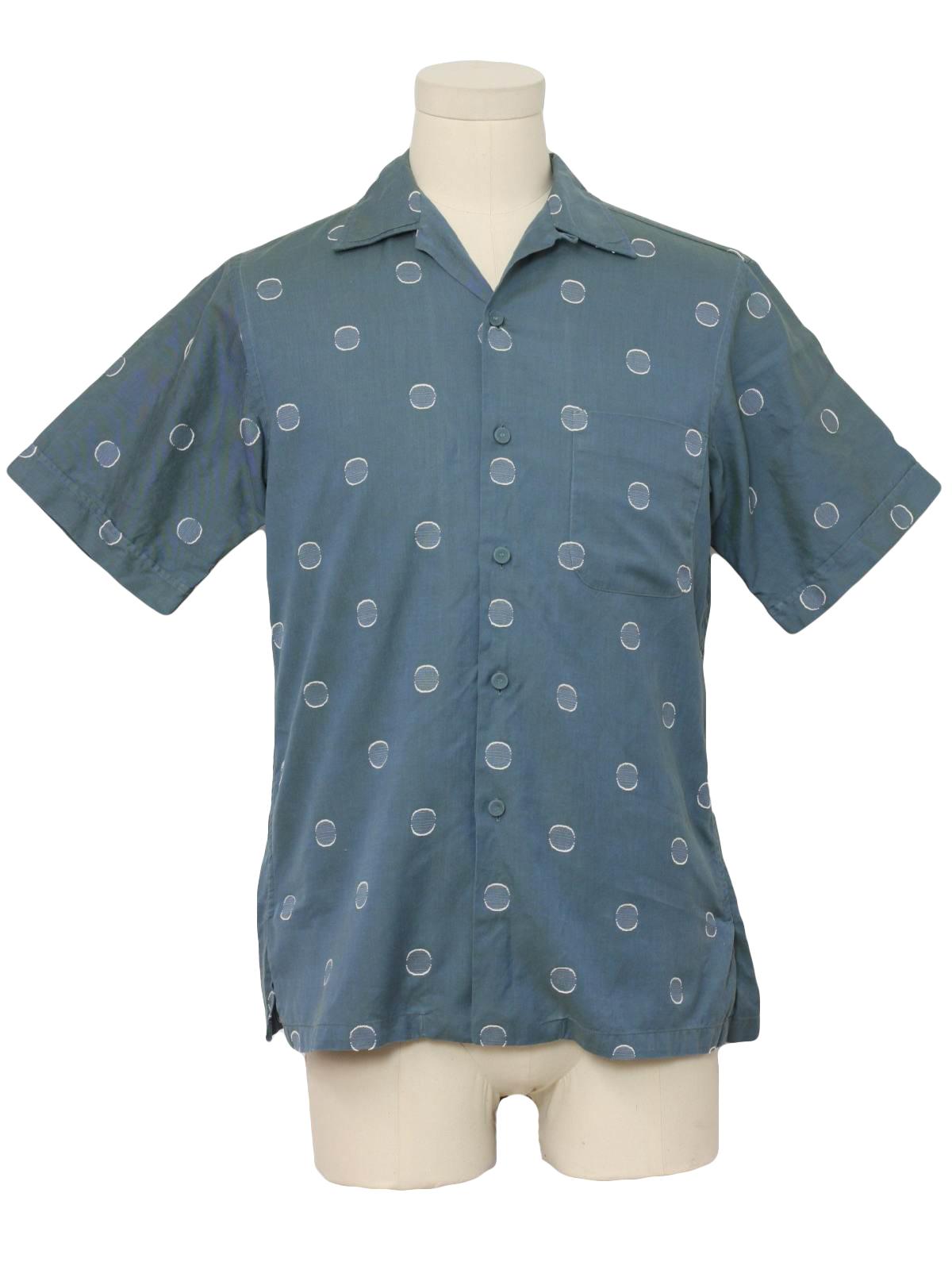 Retro eighties shirt 80s christian dior mens hazy blue for Christian dior button up shirt