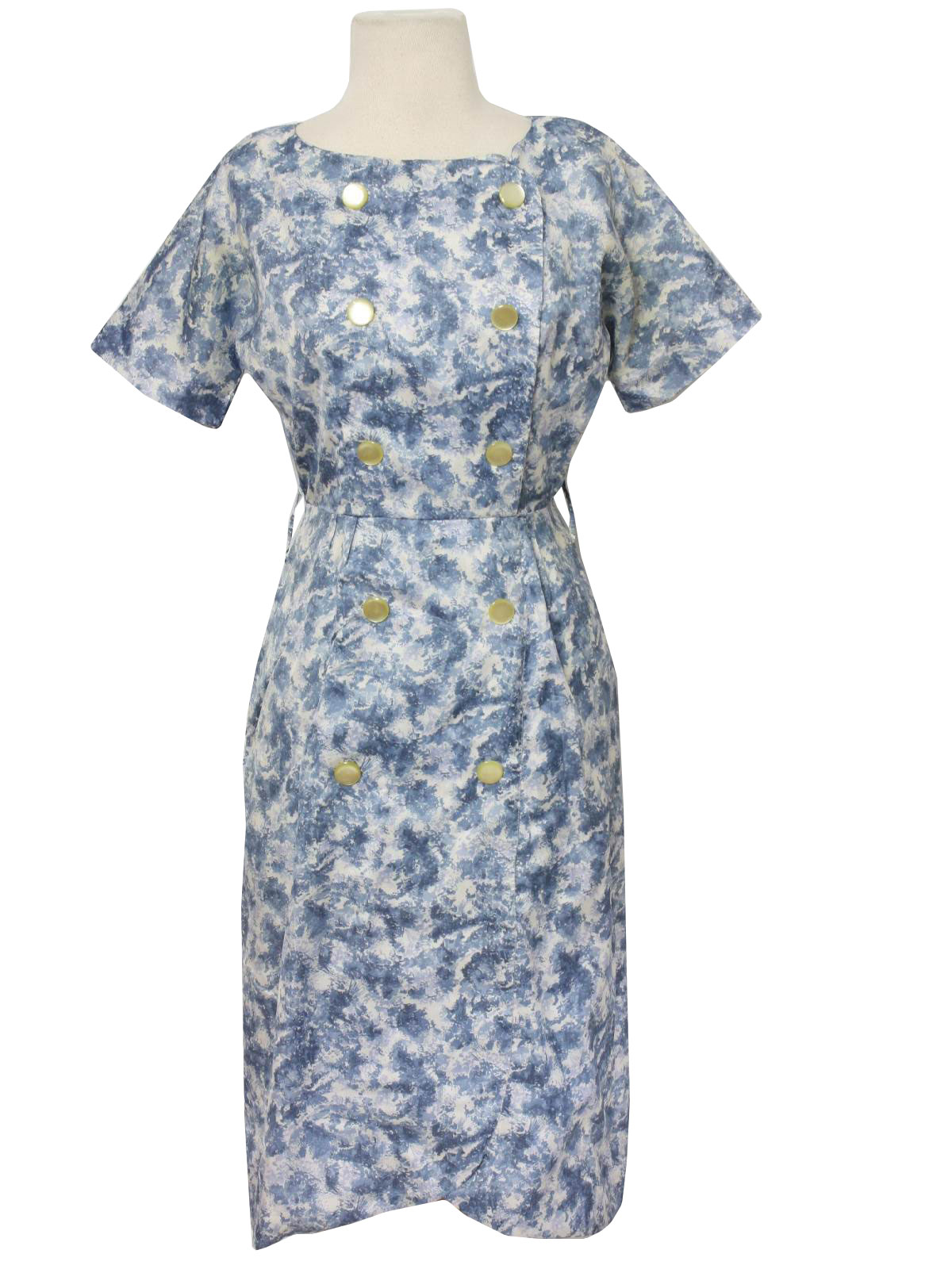 Retro 1950s Dress 50s Missing Label Likely Home Sewn