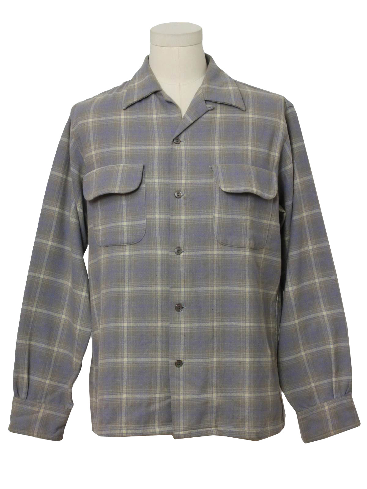 Fifties Gabardine Shirt Late 40s Early 50s Levis Deluxe