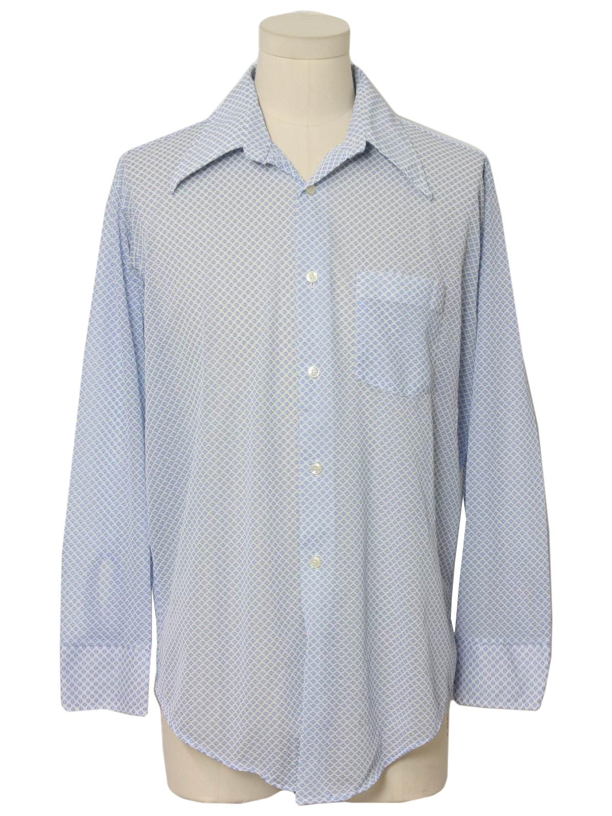Vintage kmart 70 39 s print disco shirt 70s kmart mens for Kmart button up shirts