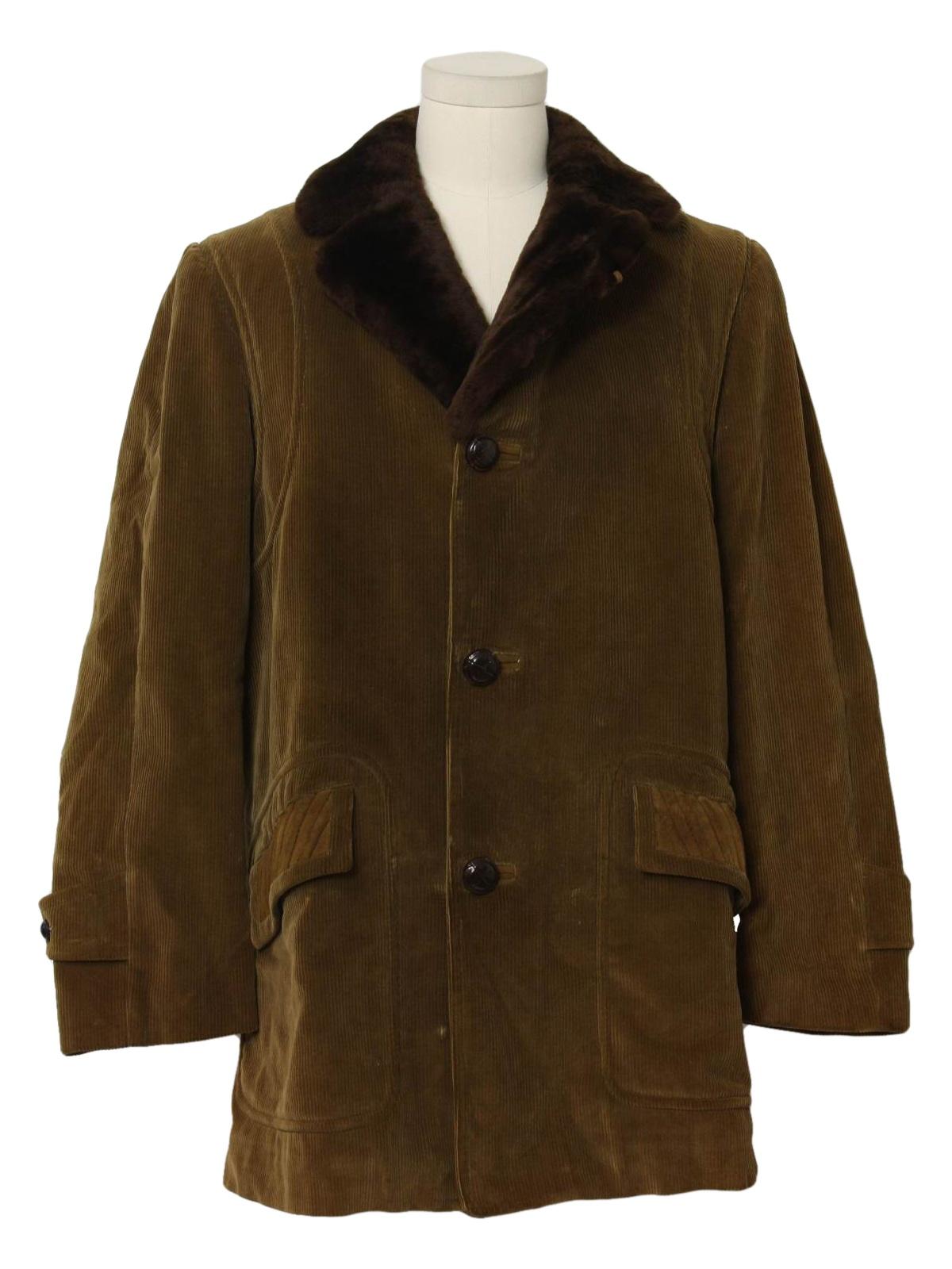 Vintage Cortefiel 60 S Jacket 60s Cortefiel Mens Khaki