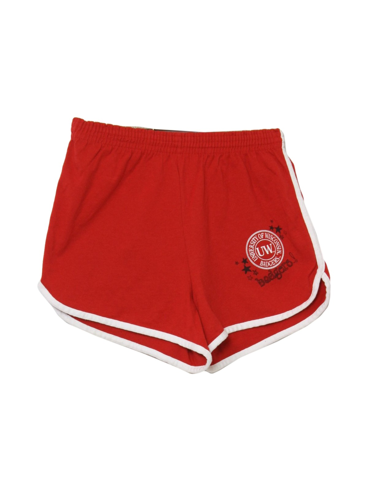 1990's Shorts (Soffe): 90s -Soffe- Womens red polyester and cotton ...