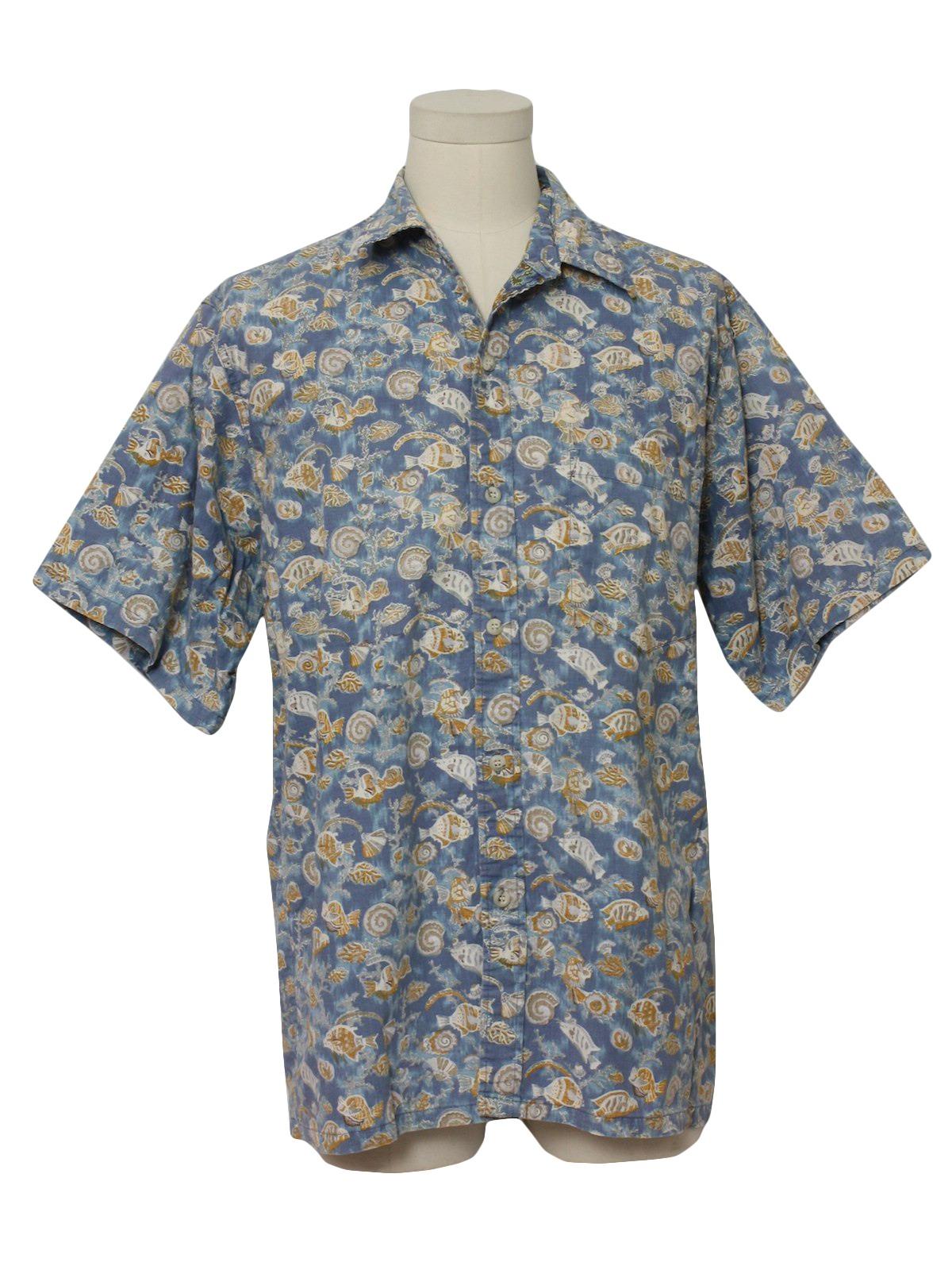 Missing label 90 39 s vintage hawaiian shirt 90s missing for Fish hawaiian shirt