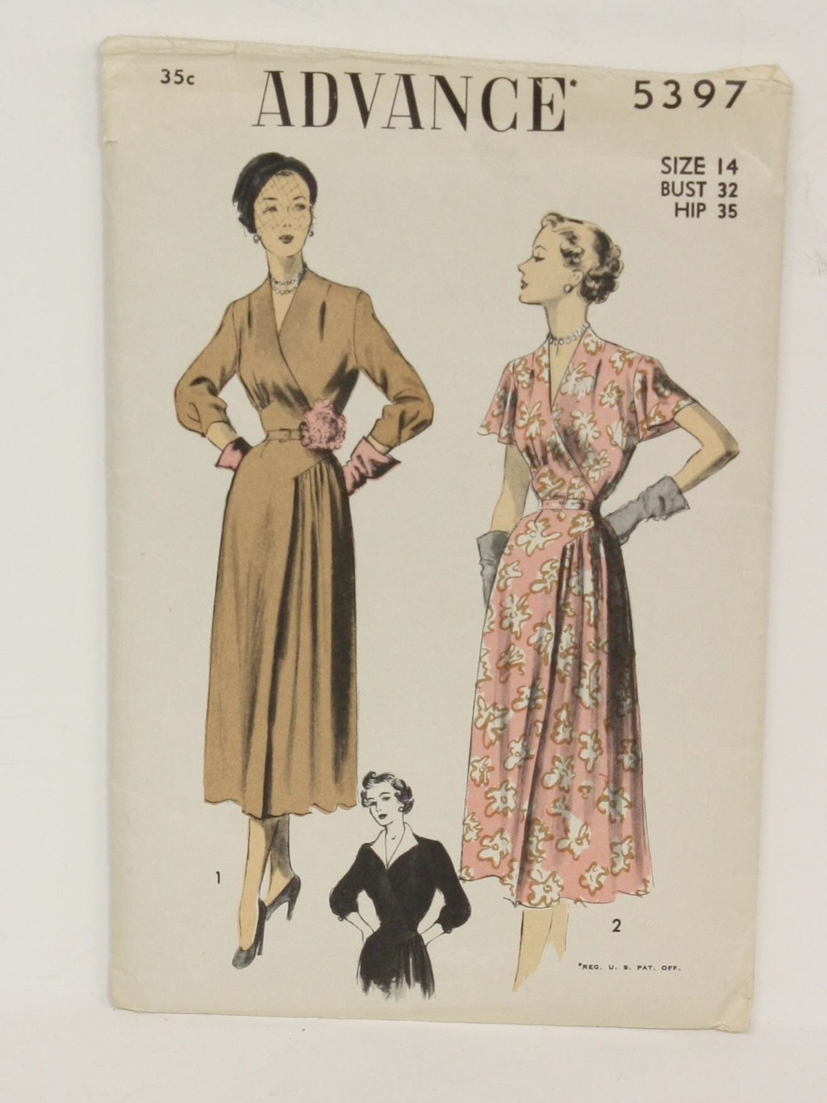 Advance Pattern No. 5397 Forties Vintage Sewing Pattern