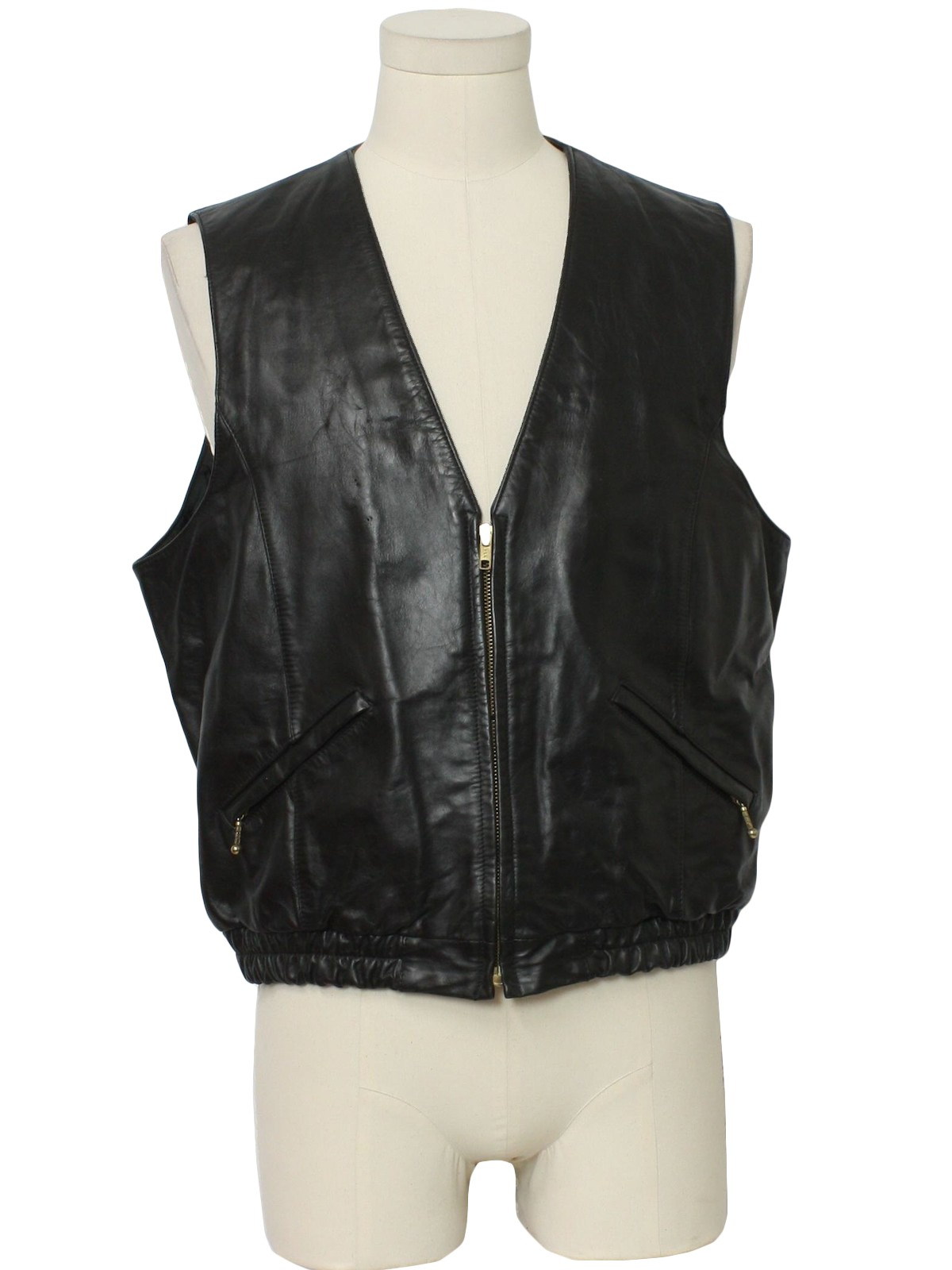 e2a9c47d0 1980's Wilsons Suede and Leather Mens Leather Vest