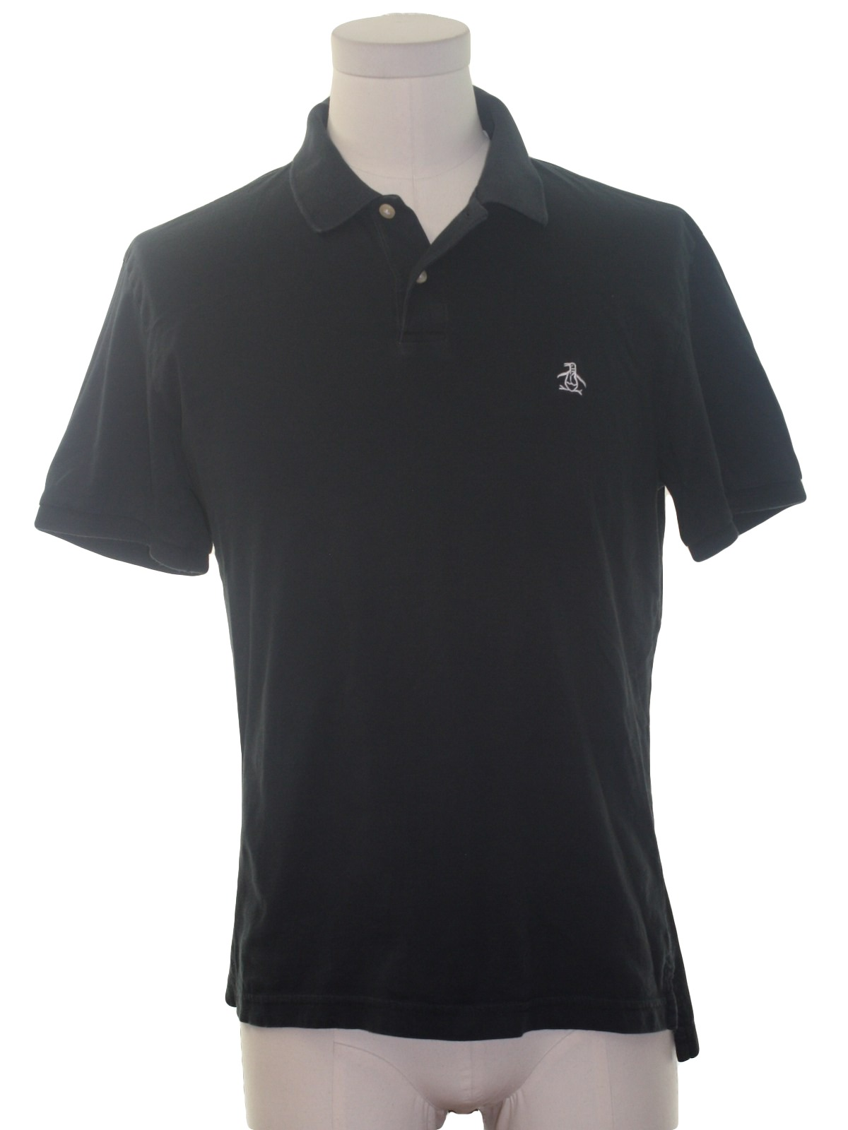 Shirt 90s penguin by munsingwear mens navy cotton short for Golf shirt with penguin logo