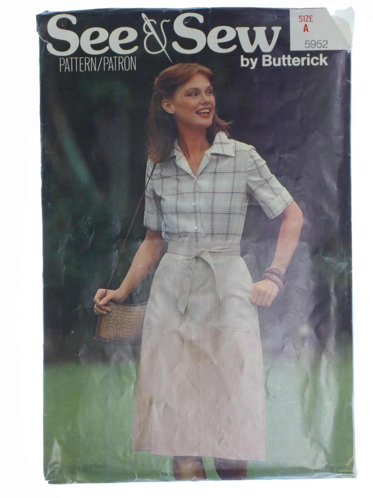 Butterick 5952 Misses/' Jacket Belt and Dress   Sewing Pattern