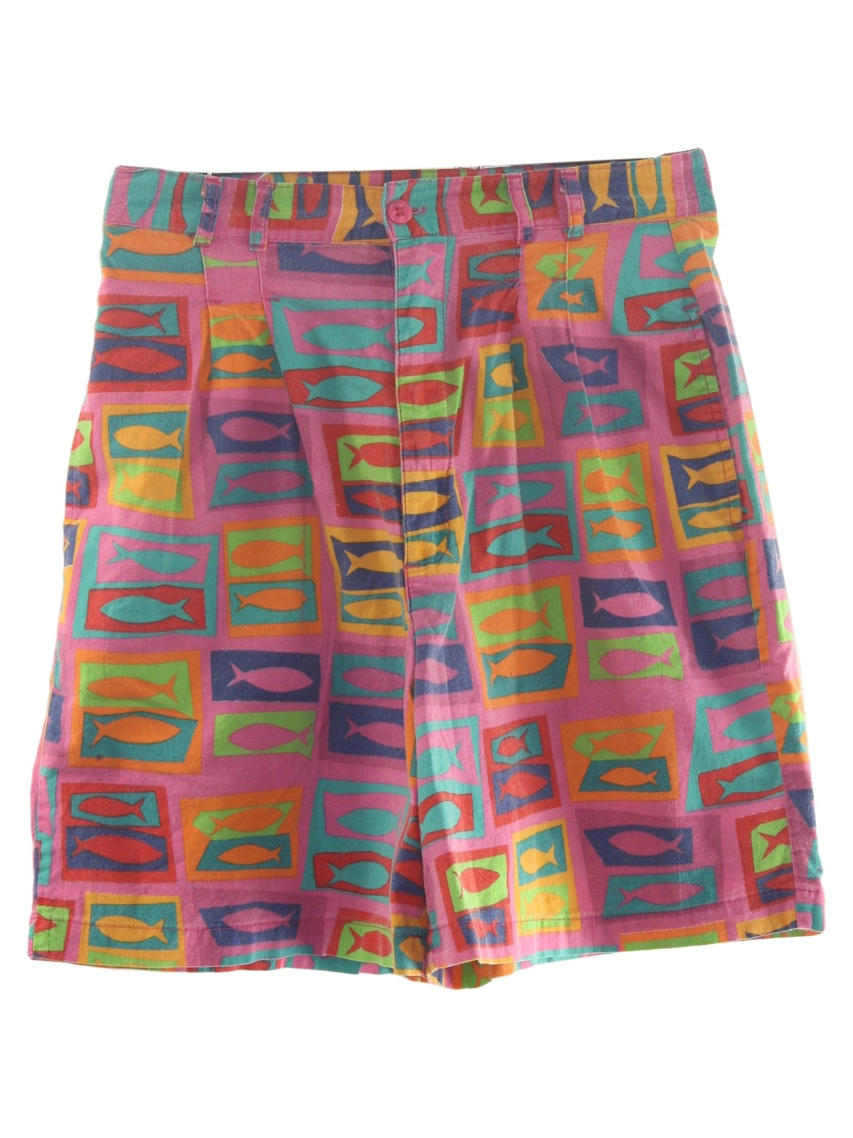 66233e4d6167 Vintage Bugle Boy Eighties Shorts: Late 80s -Bugle Boy- Womens pink ...