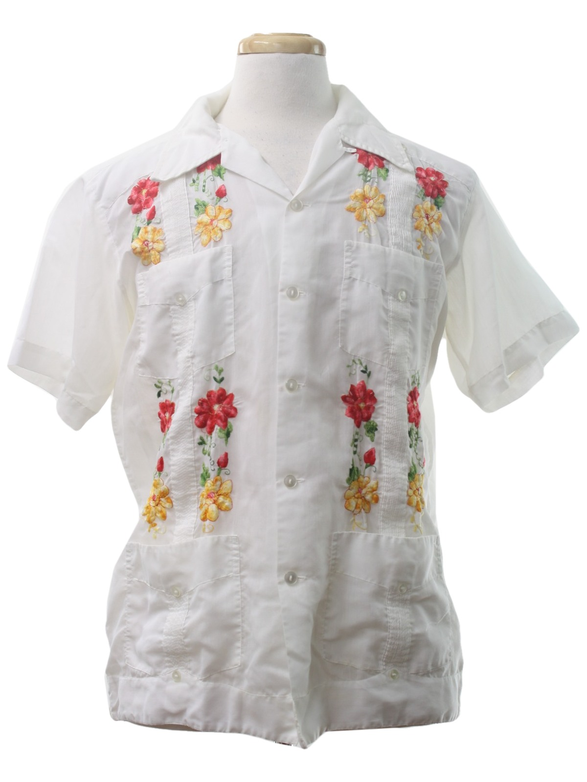 retro seventies guayabera shirt  70s
