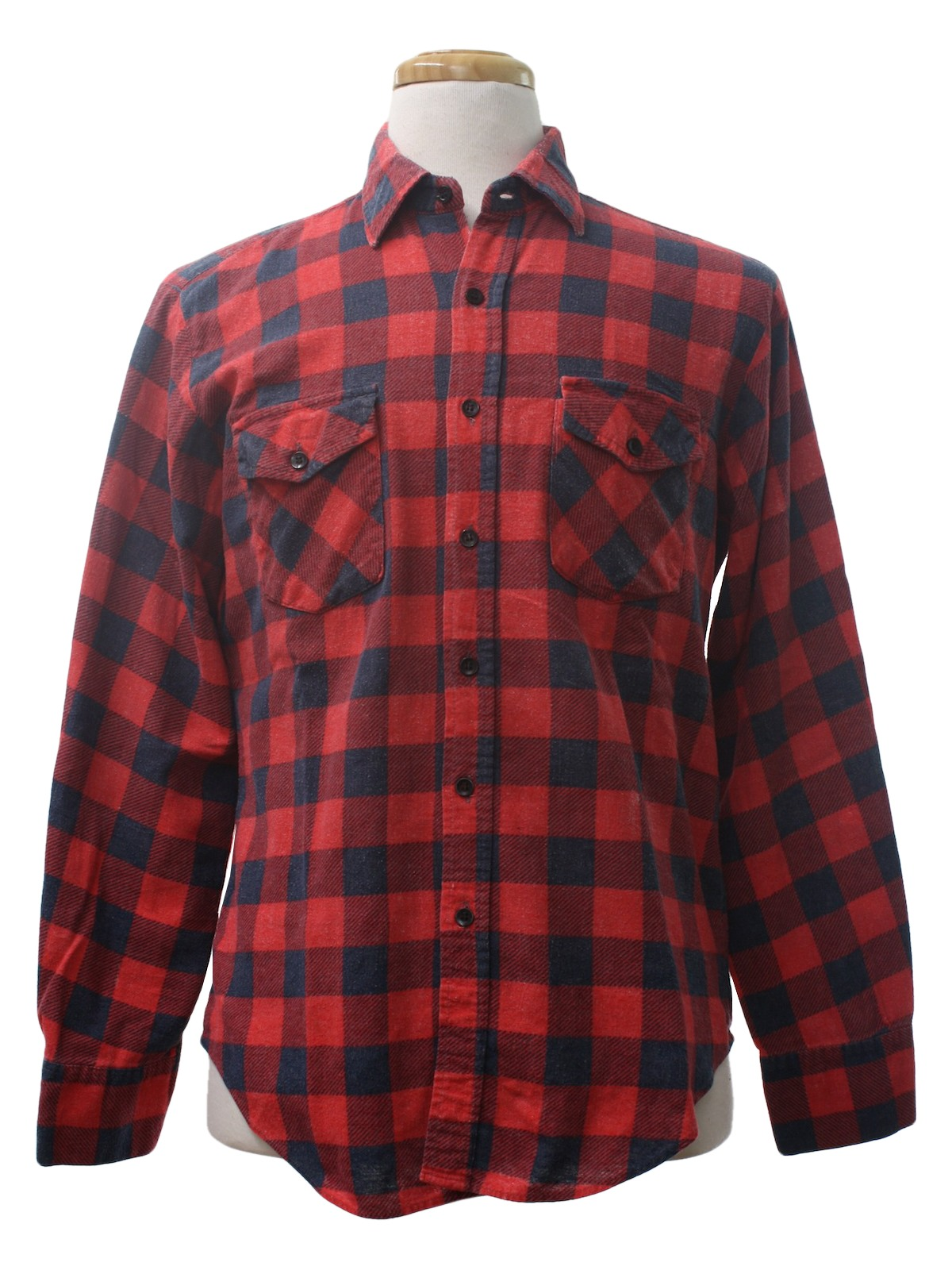 90 39 s timber run shirt 90s timber run mens faded red and for Navy blue and red flannel shirt