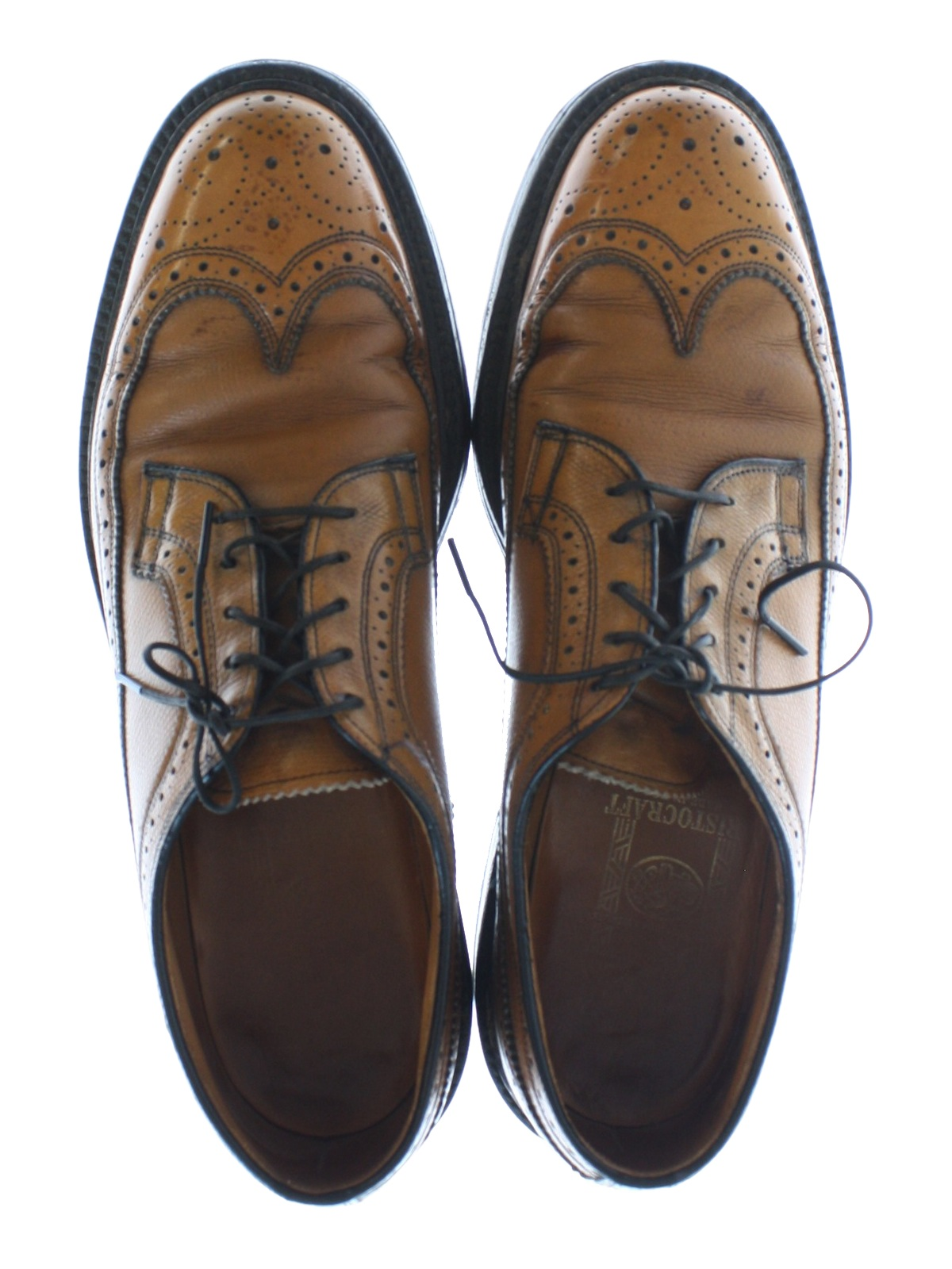 Brown Mens Leather Shoes Vintage