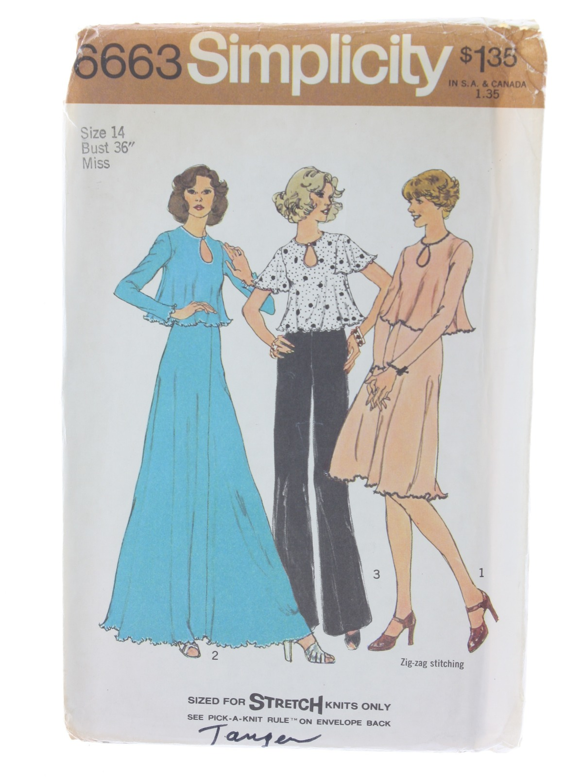 Vintage 70s Sewing Pattern 70s Simplicity Pattern No