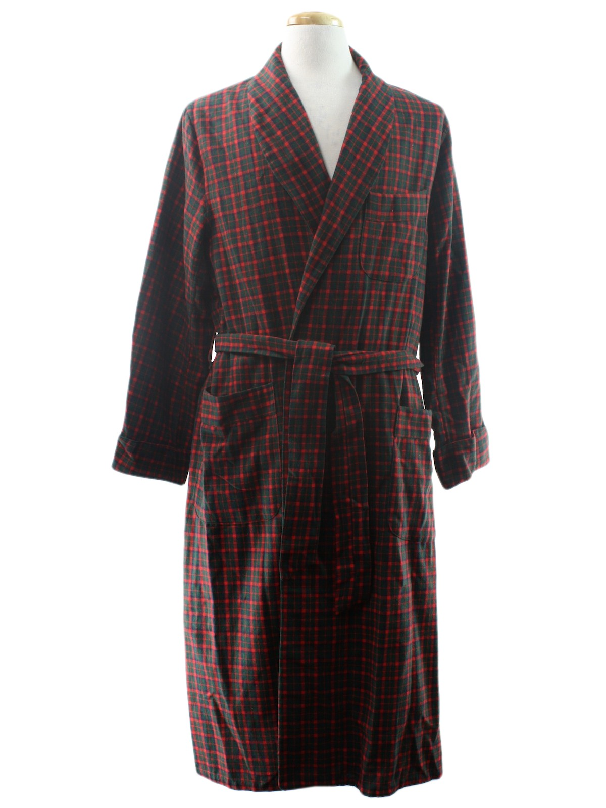 Vintage 1950's Mens Robe: Early 60s -Alpine- Mens red ...