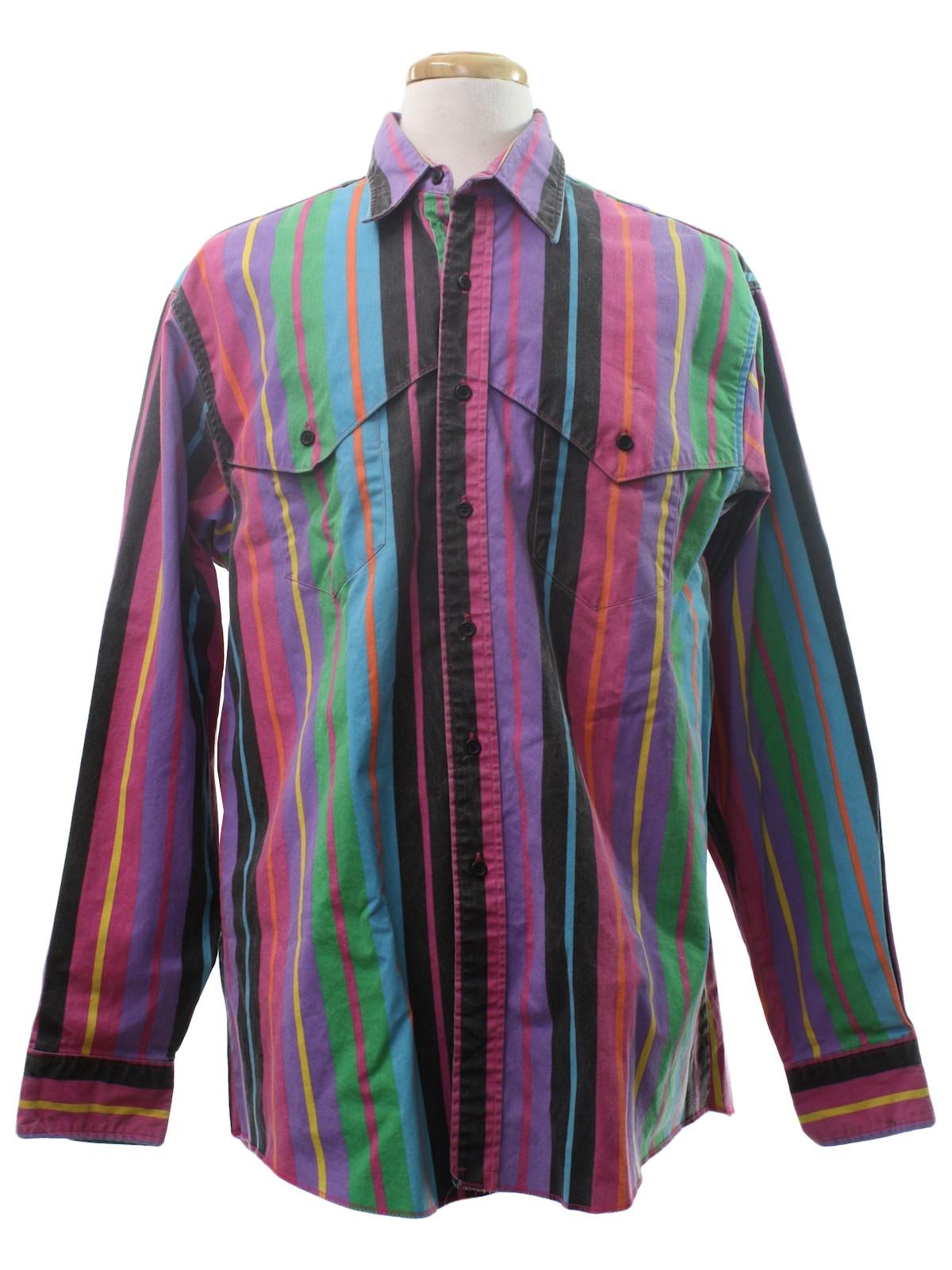 Vertical Striped Shirt Mens