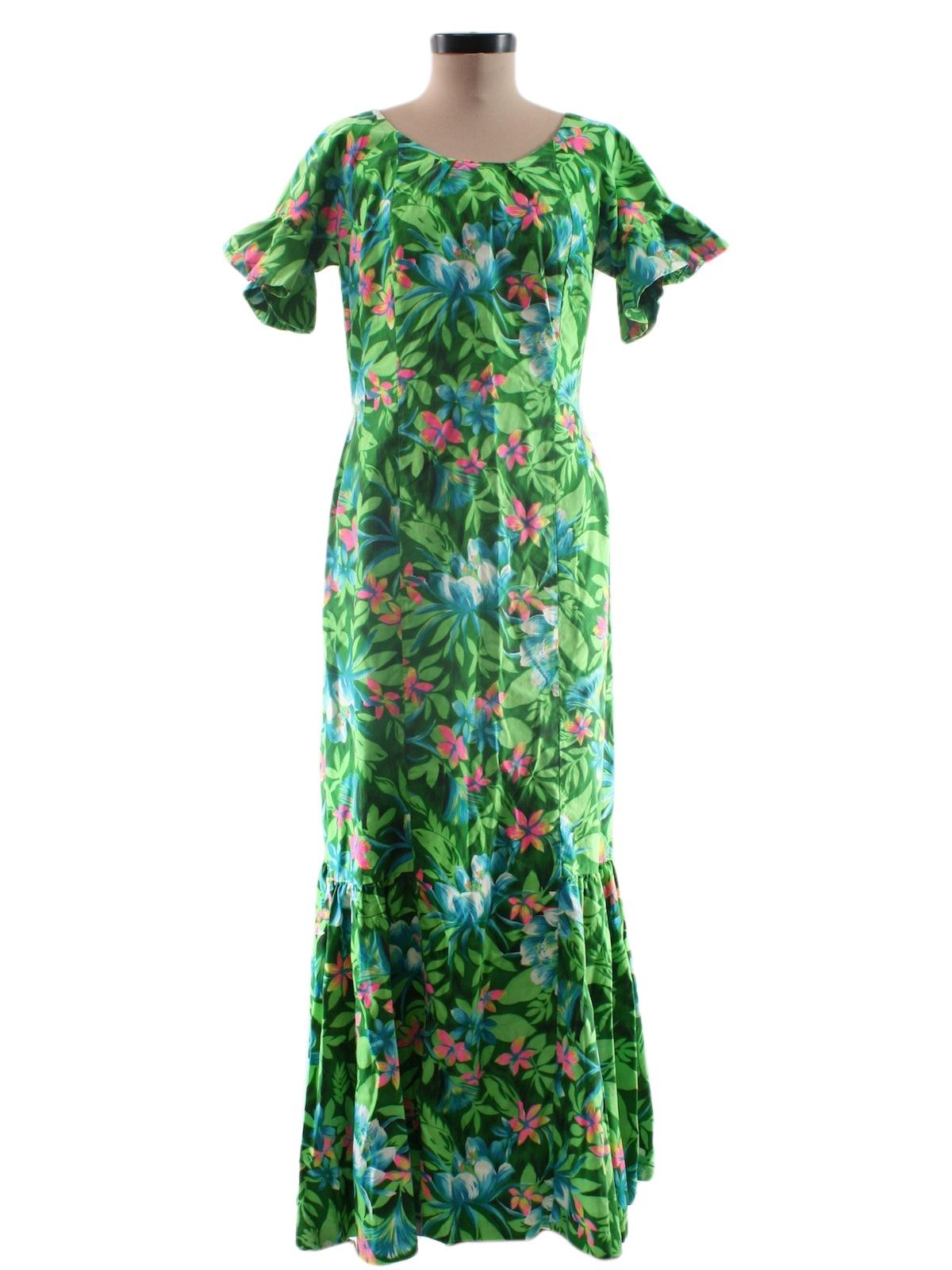 Floor Length Hawaiian Dresses