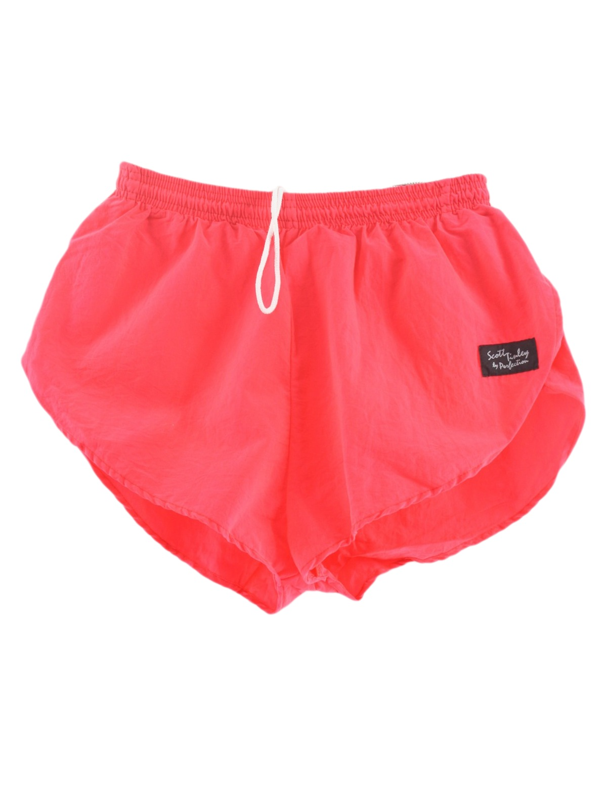 Retro Eighties Shorts: 80s -Scott Tinley- Mens bright red ...