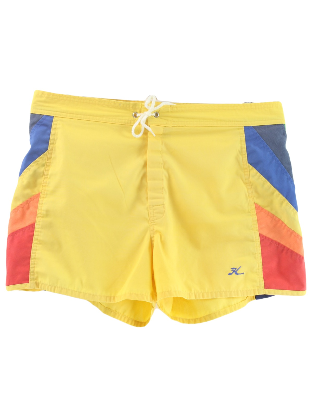 2f68d56dd2d24 Retro 1980s Shorts: 80s -Hobie- Mens yellow background with shaded ...
