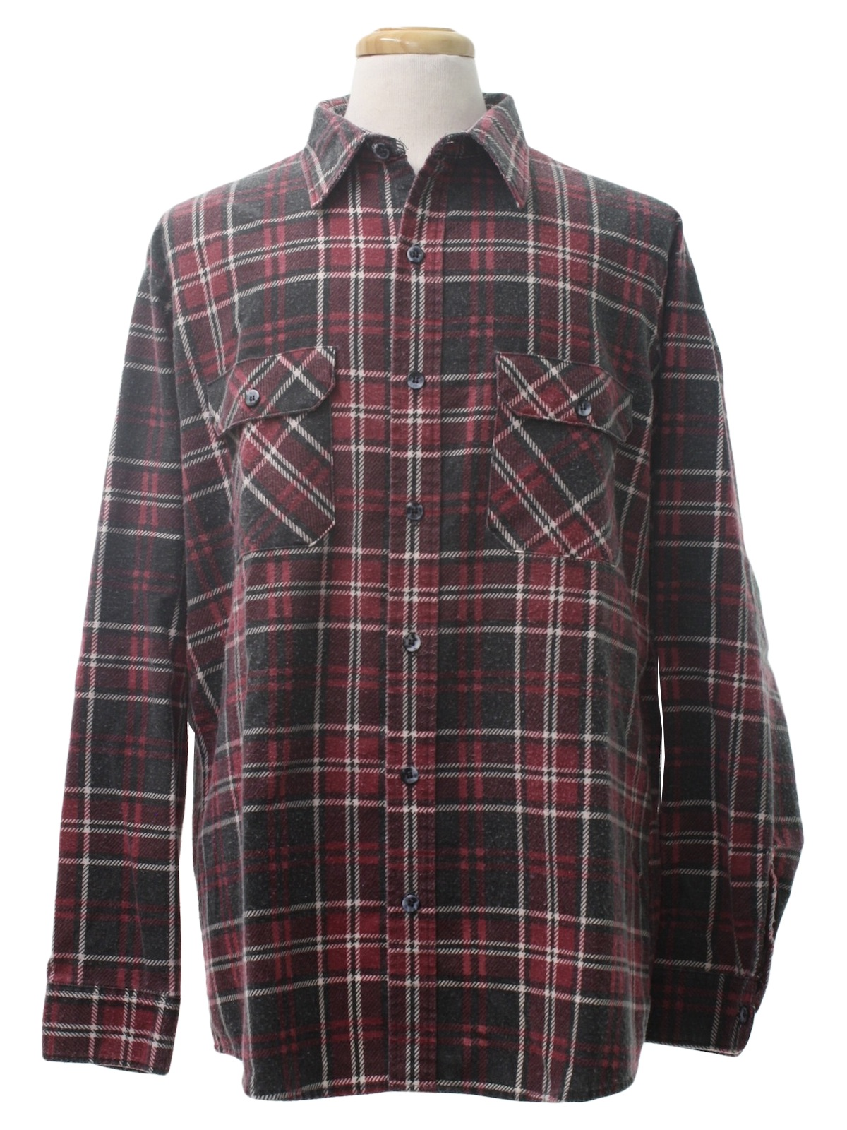 Retro 1980 39 s shirt sears fieldmaster 80s sears for Cotton polyester flannel shirts
