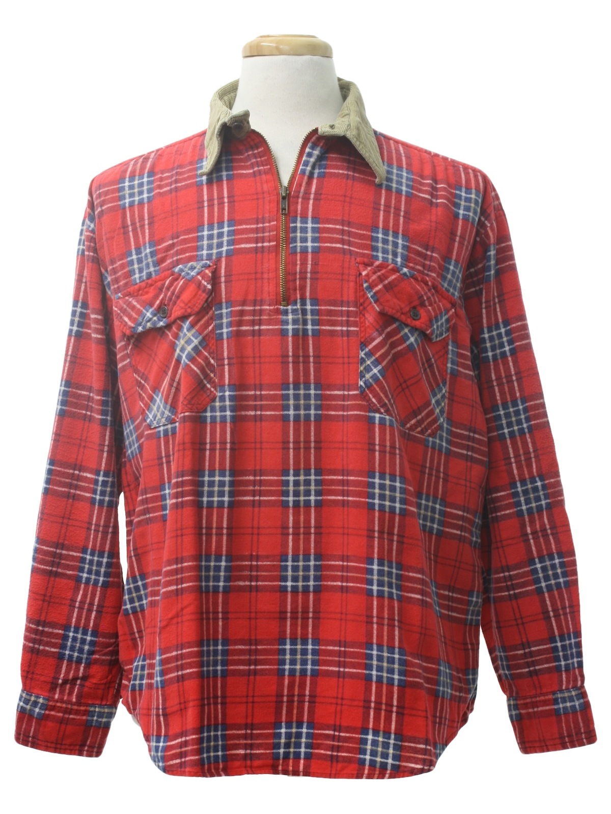 90s shirt timber run 90s timber run mens red for Zip front flannel shirt