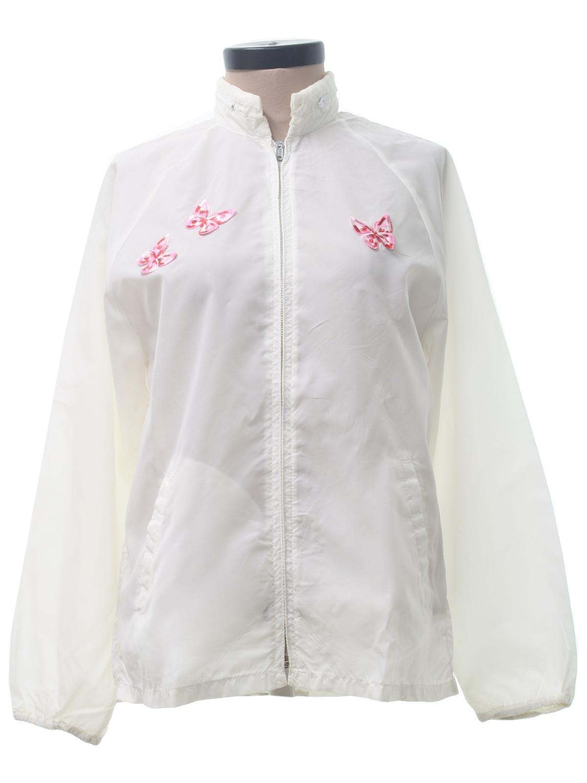 Womens Nylon Windbreaker Jackets - Pl Jackets