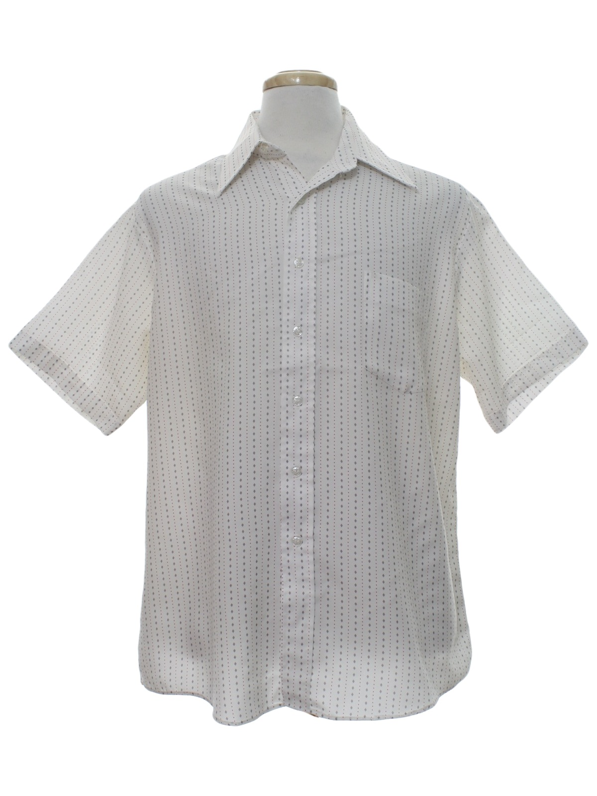 Vintage 1970 39 s shirt 70s kmart mens white background for Kmart button up shirts
