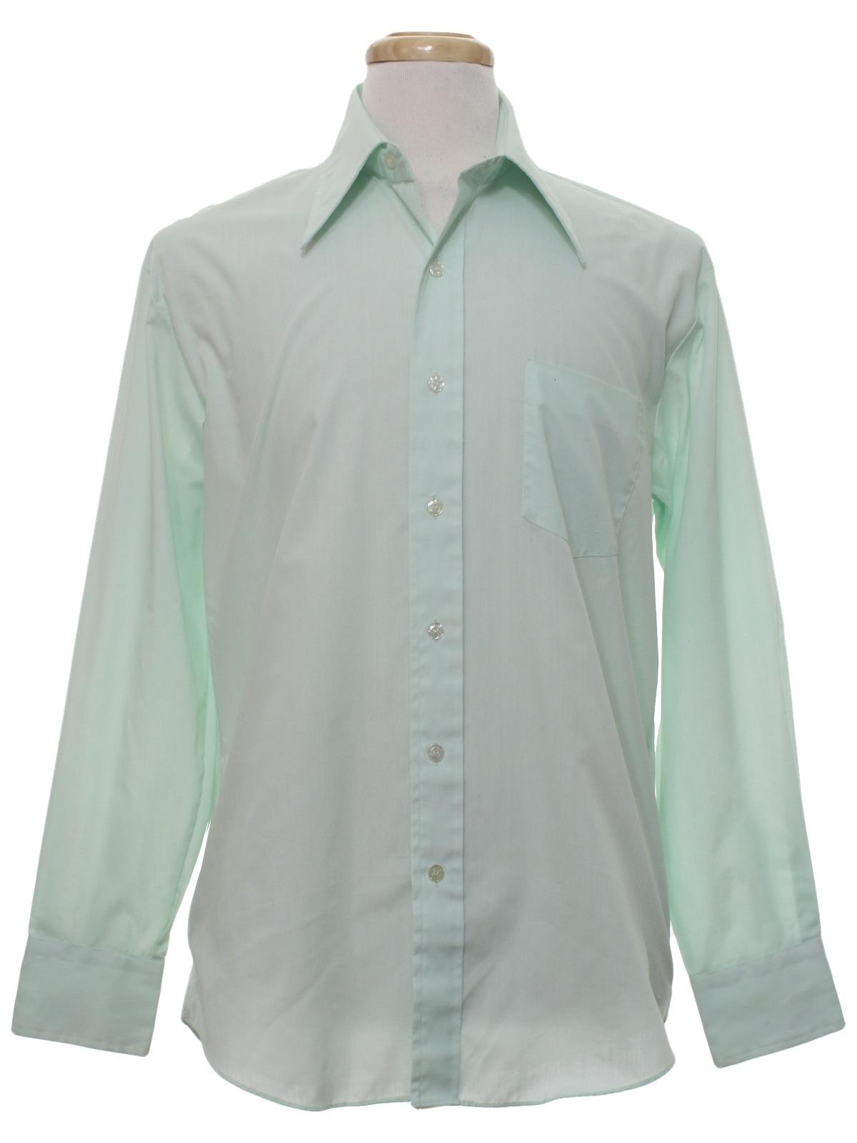 Vintage kmart 70 39 s shirt 70s kmart mens mint green for Kmart button up shirts