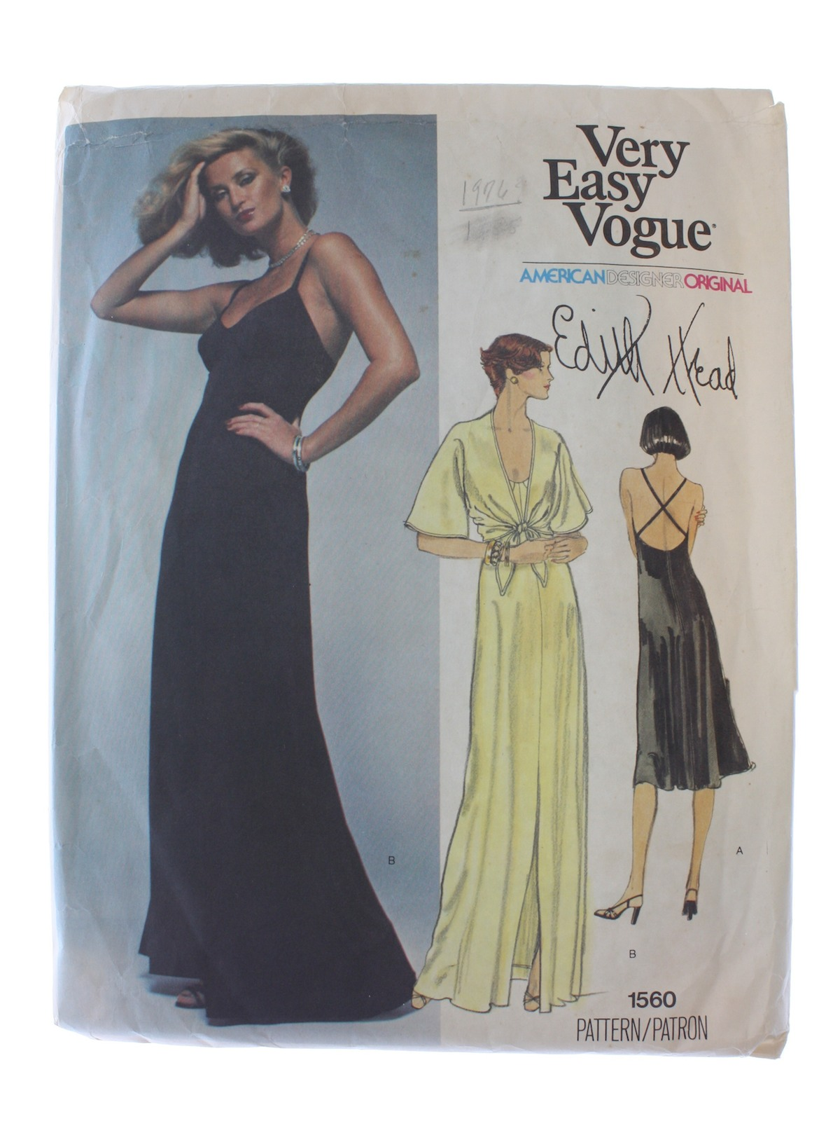 700f6c84687 80s Vintage Vogue Pattern No. 1560 Sewing Pattern  c. 1984 -Vogue ...