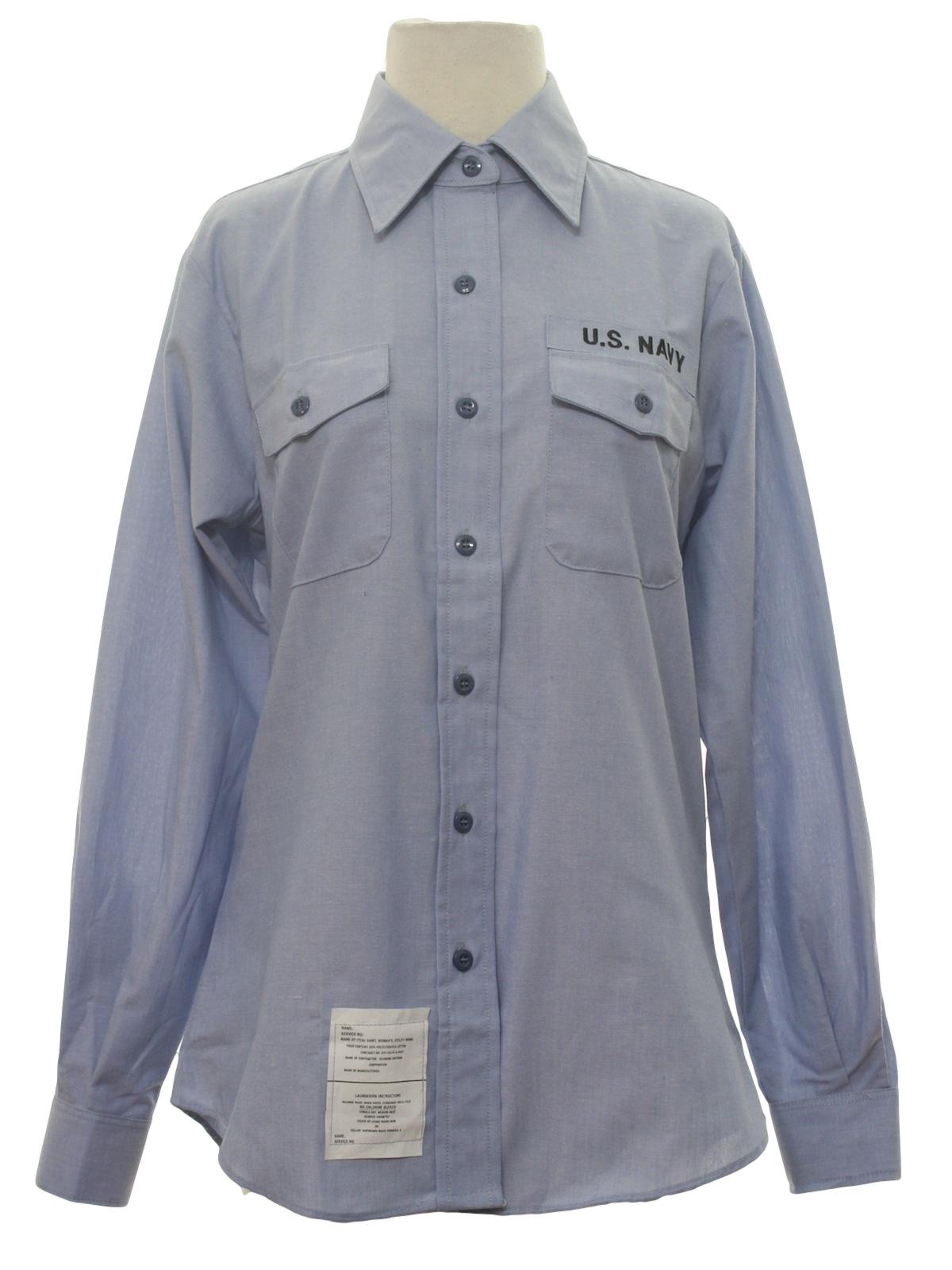 Eighties Vintage Shirt 80s Seagoing Uniform Womens