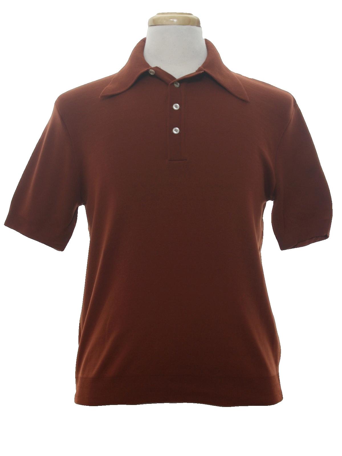 Vintage kmart 80 39 s knit shirt 80s kmart mens cinnamon for Kmart button up shirts